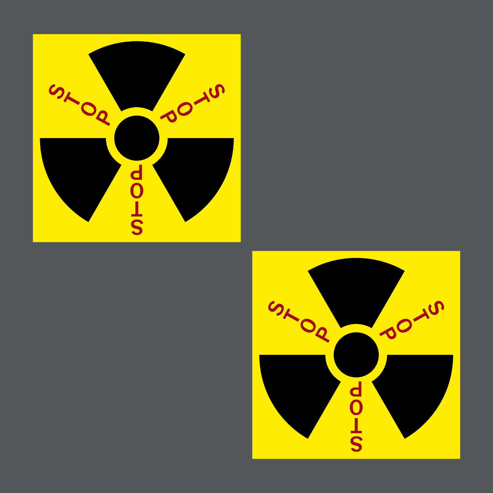 5 Aufkleber 5cm Sticker Stop Radioaktivität Strahlung Kernkraftwerke Atomkraft