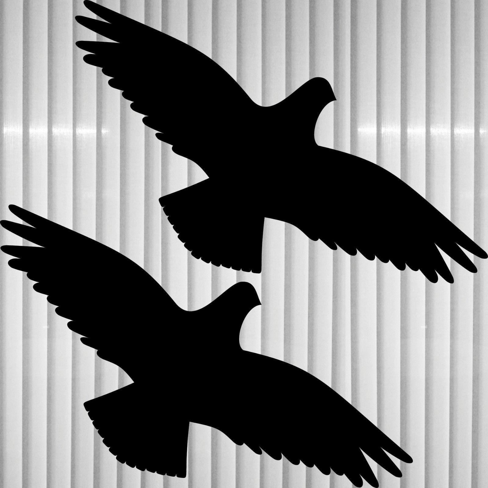 2 aufkleber 30cm schwarz vogel tattoo warnvogel fenster scheibe schutz folie kaufen bei green it. Black Bedroom Furniture Sets. Home Design Ideas