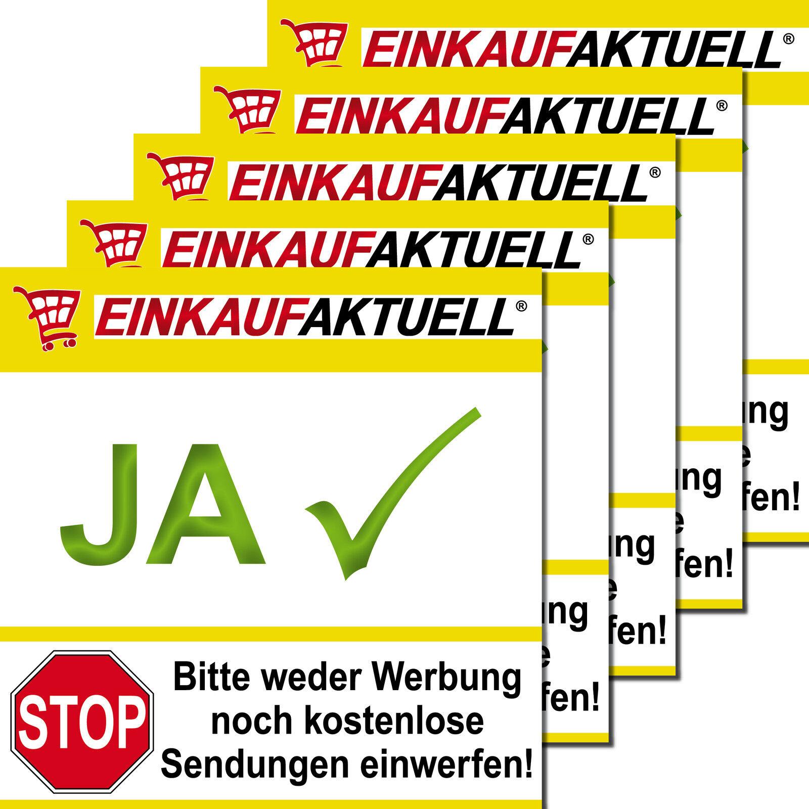 5 Briefkasten Aufkleber Sticker Keine Werbung Ich Möchte Nur Ja Einkaufaktuell
