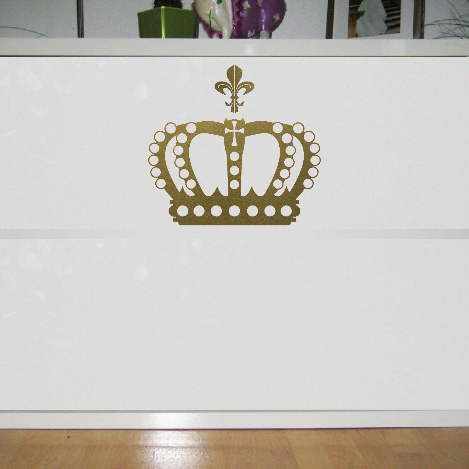 Krone 28cm + Lilie gold König Aufkleber Tattoo Auto Fenster Tür ...