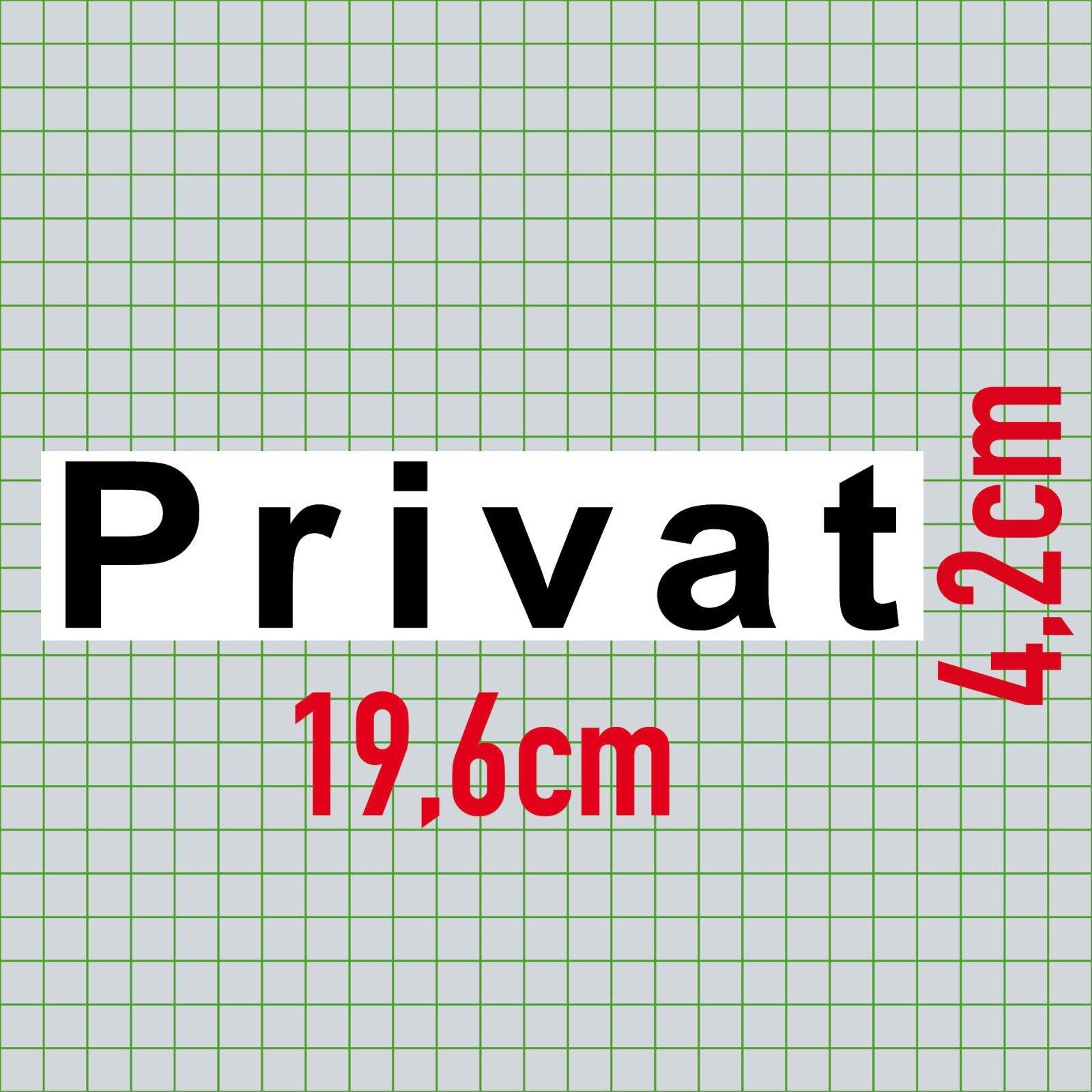 5 Aufkleber 20cm Sticker Privat Hinweis Tur Regal Schrank Kisten
