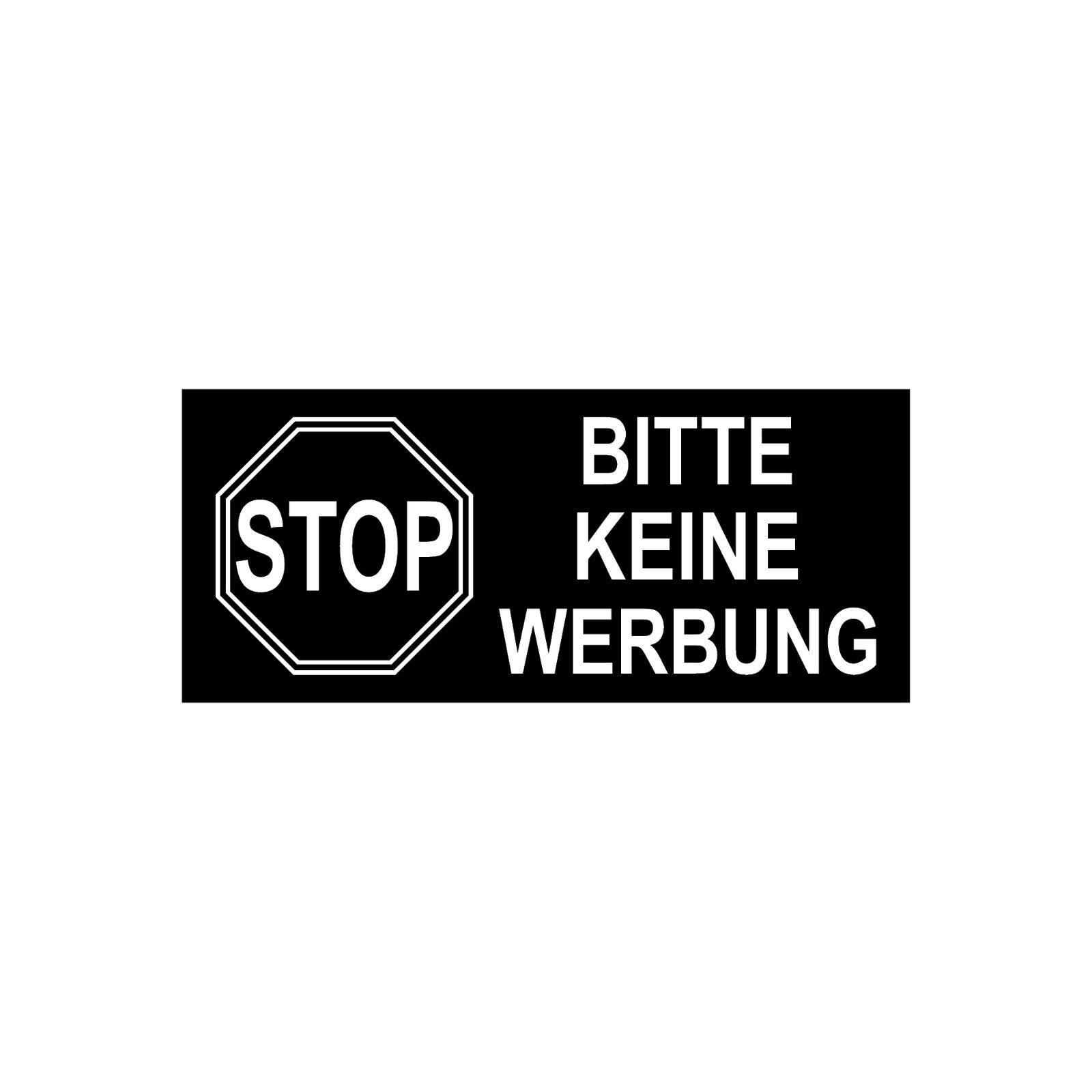 10 Aufkleber 6 5cm X 3cm Stop Bitte Keine Werbung Einwerfen Briefkasten Hinweis