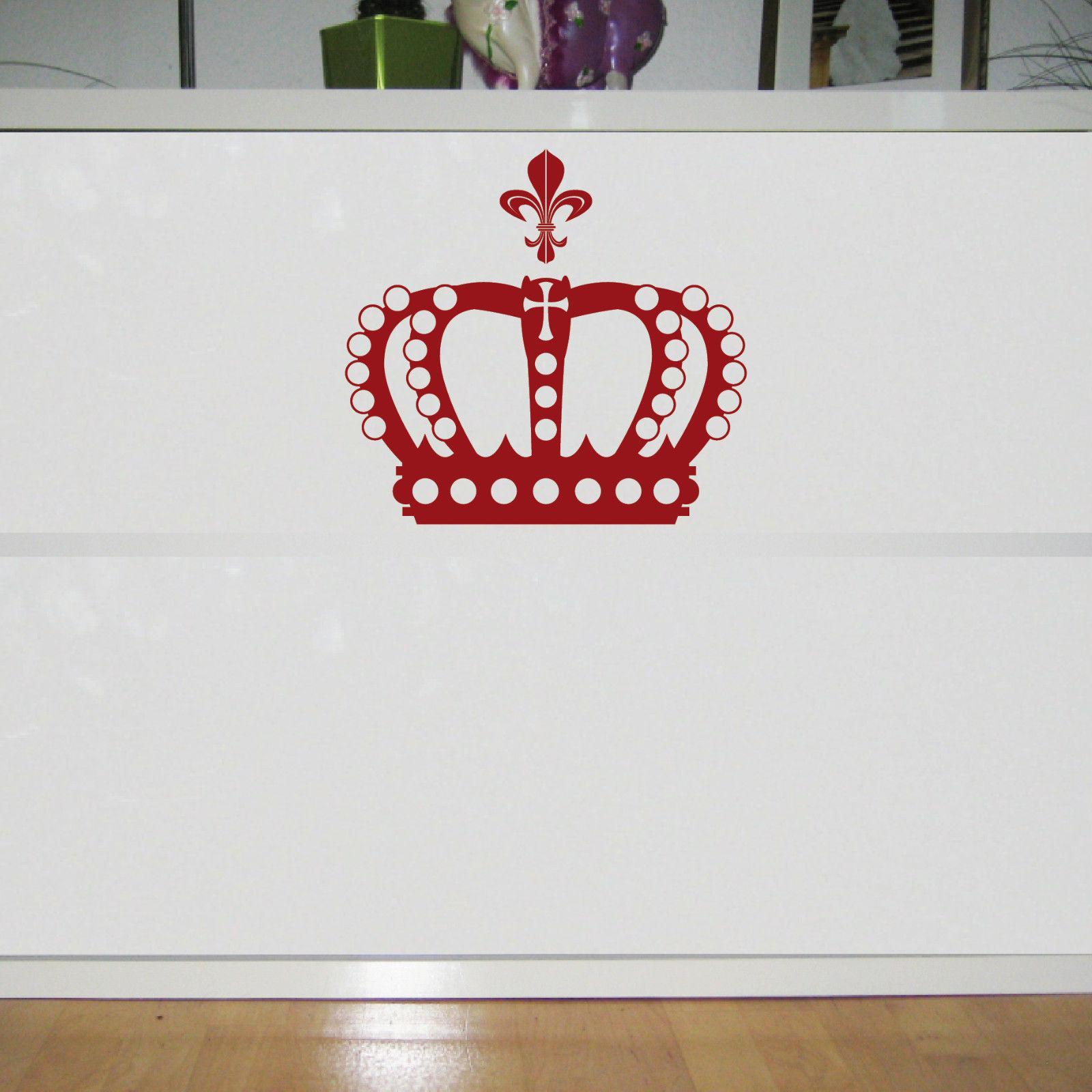 Fenster König krone 28cm lilie dunkelrot könig aufkleber auto fenster tür