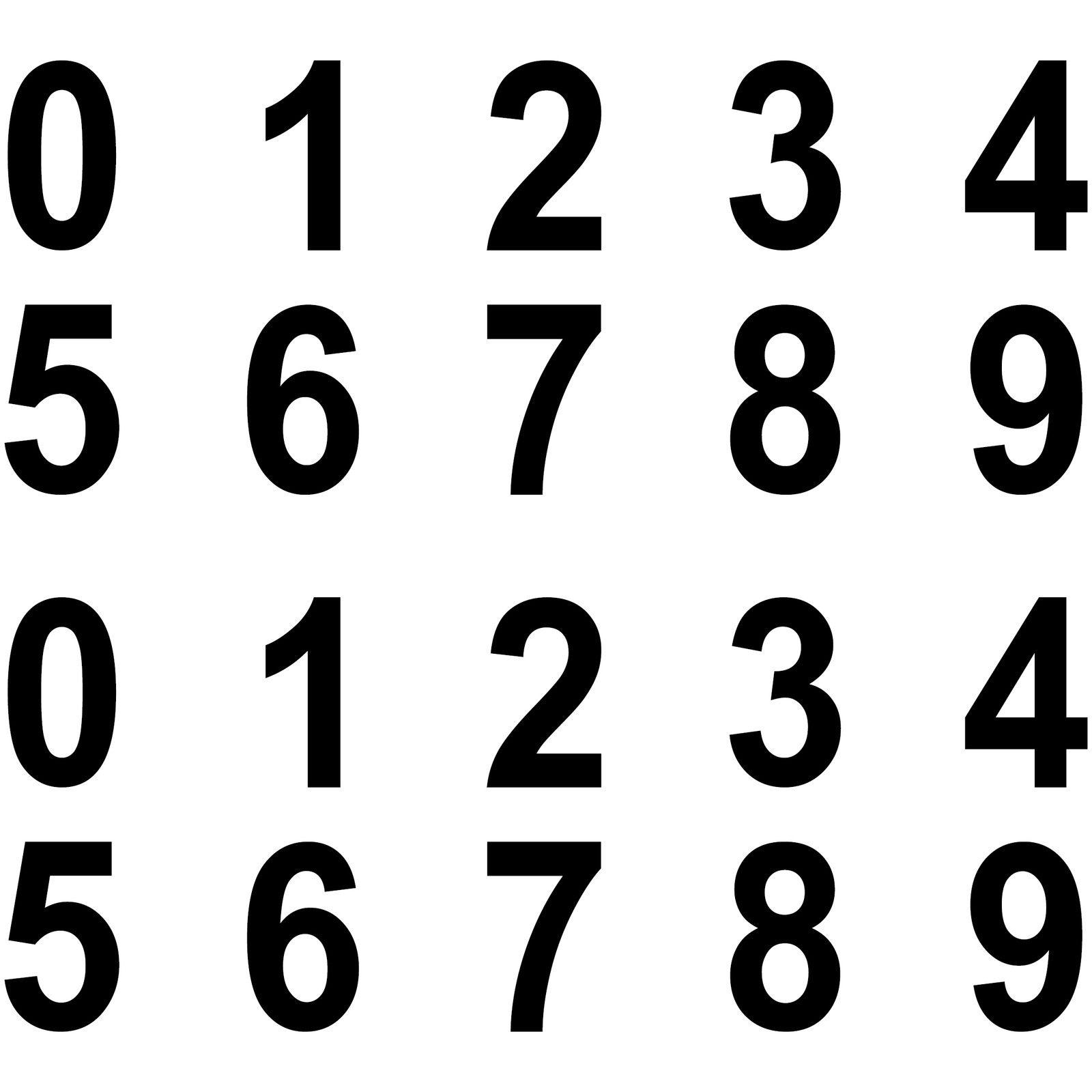 100 Ziffern Aufkleber 2cm Schwarz Zahlen Zimmer Nummern Zahl Tattoo