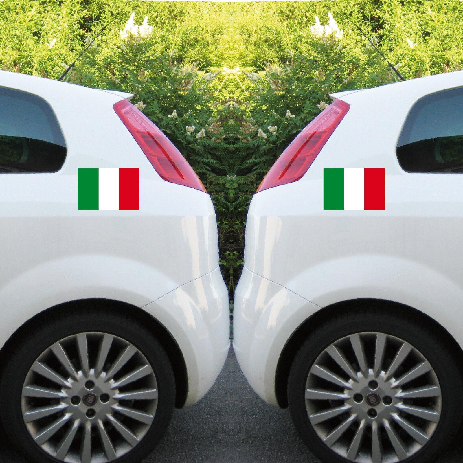 2 Aufkleber Tattoo 22cm Auto Folie Italia Italien Italy Mod Scooter Vespa Roller