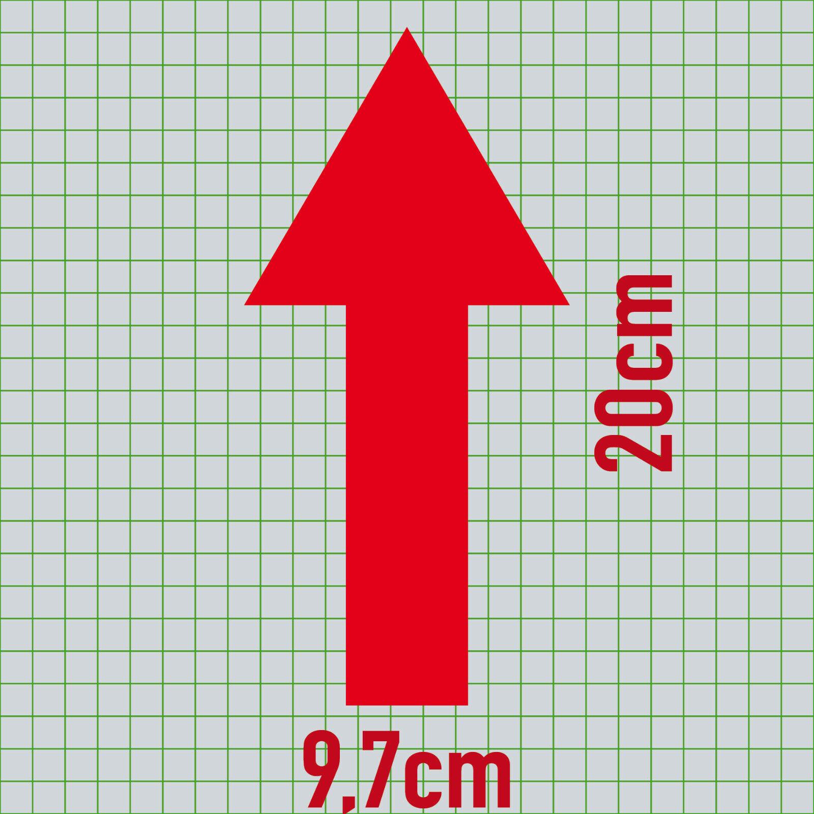 Klebefolie selbstklebend GreenIT 2 St/ück Pfeile 20cm breit Aufkleber Tattoo die Cut Deko Folie f/ür Auto Heck T/ür Fenster Plexiglas etc rot