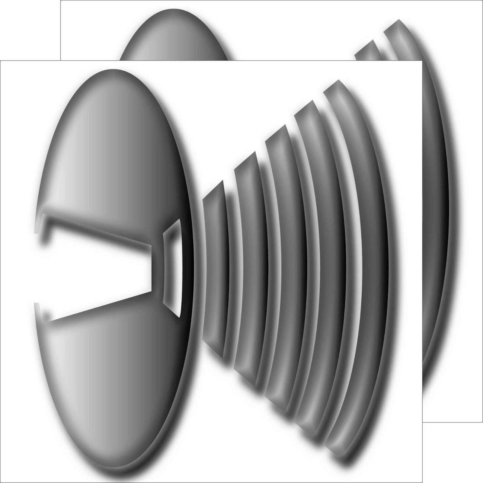 2 Aufkleber 10cm Sticker Lautsprecher Symbol Zeichen Speaker Logo ...