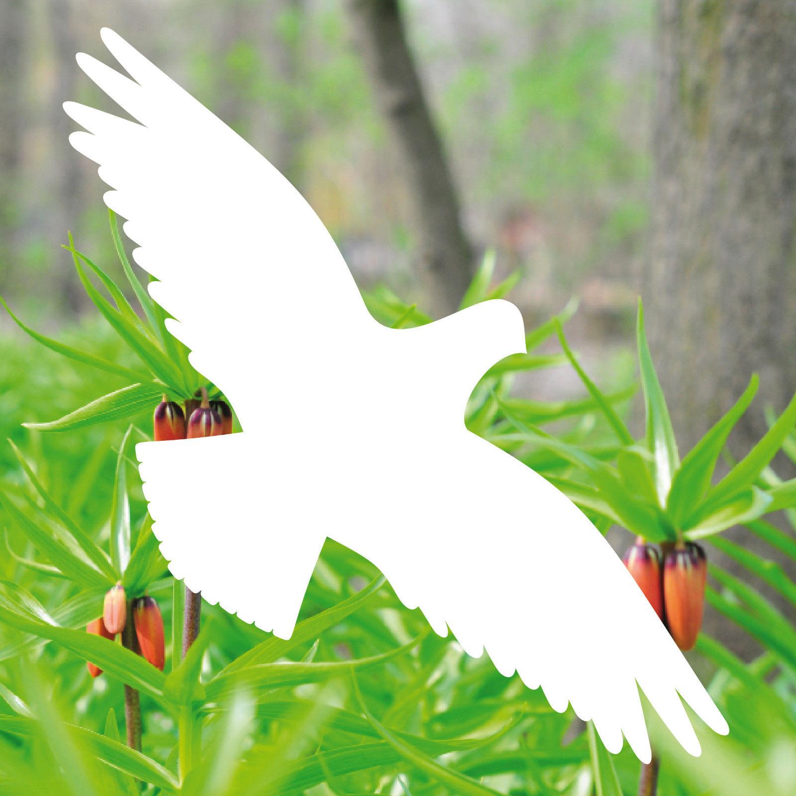 4 Aufkleber 30cm Weiß Habicht Vogel Fensterfolie Tattoo Warnvögel Vogelschutz Yategocom