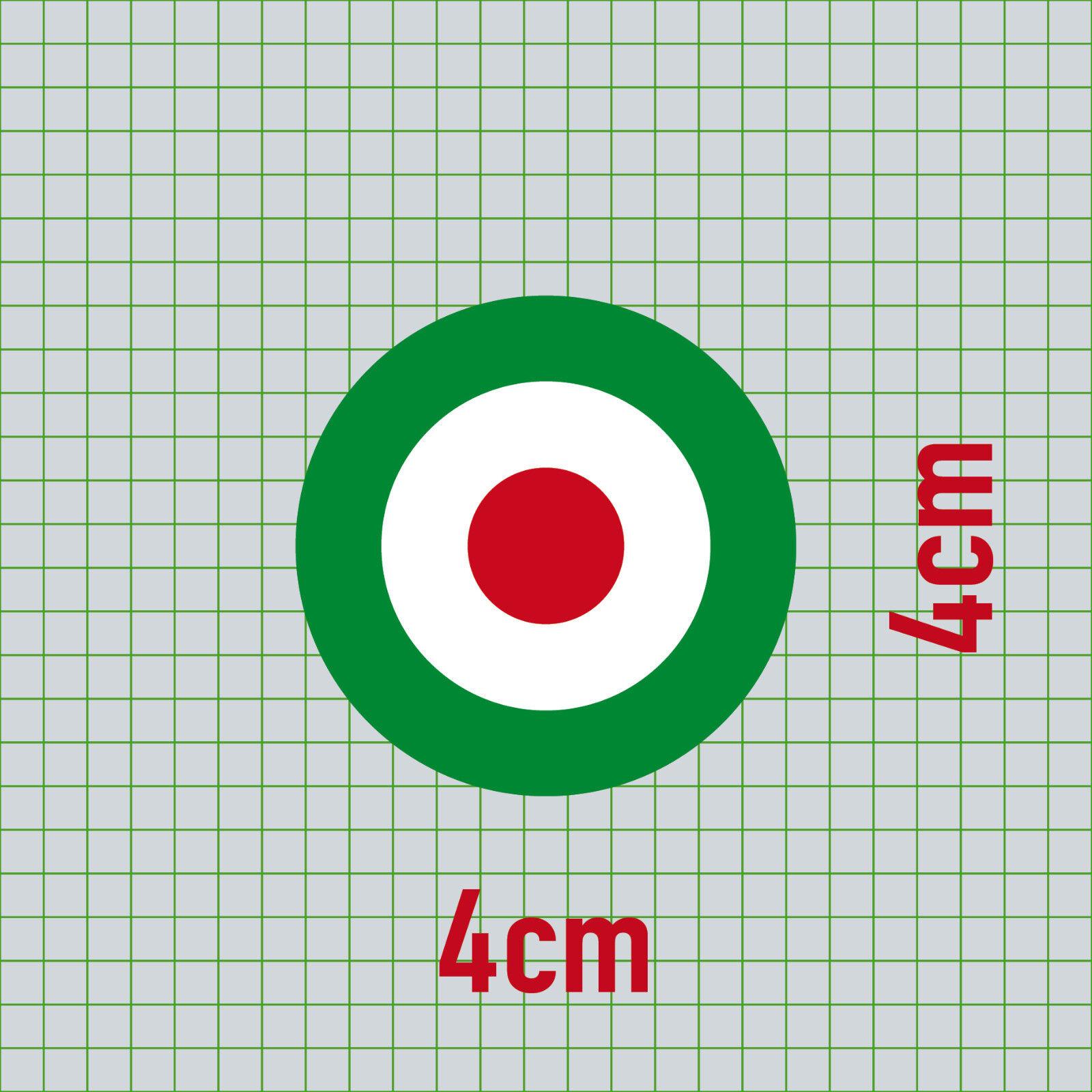 Aufkleber 4cm Sticker Decal Ita Italien Target Mod Scooter Vespa Roller Helm