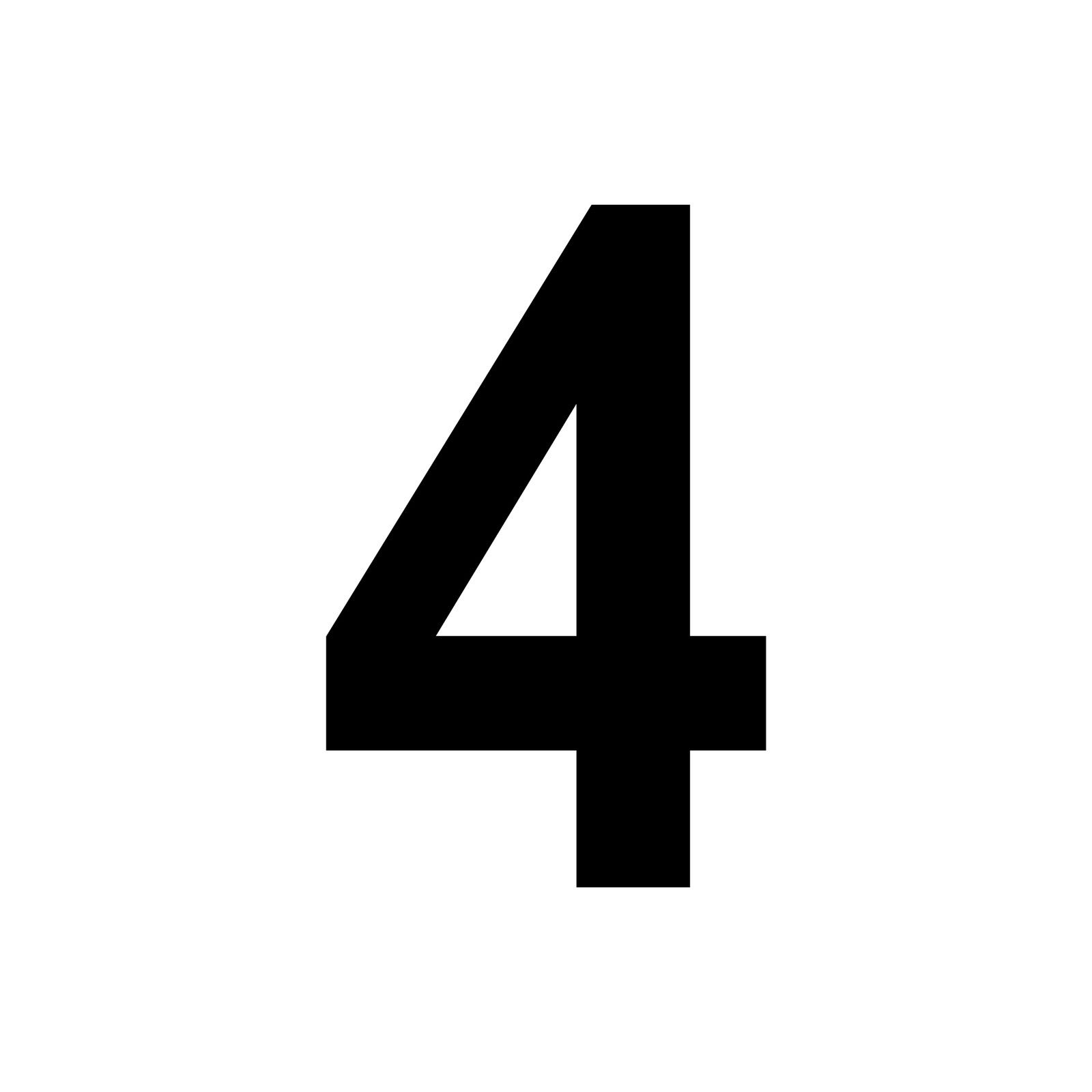Ziffer Nr 4 Schwarz 18cm Zahl Hausnummer Haus Nummer Aufkleber Tattoo Deko Folie
