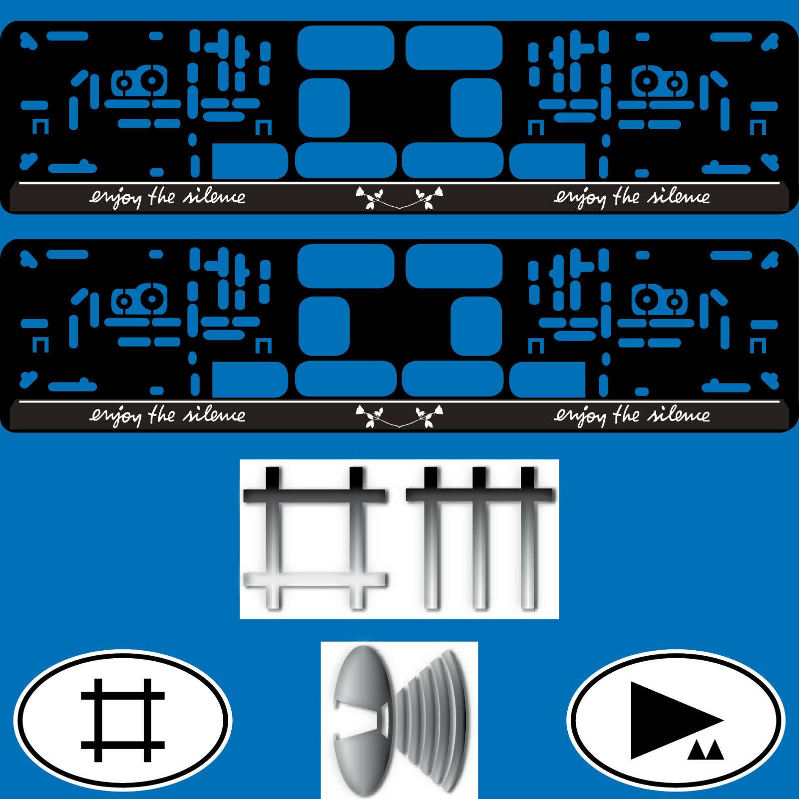 2 kennzeichenhalter kfz auto nummernschild halter depeche. Black Bedroom Furniture Sets. Home Design Ideas