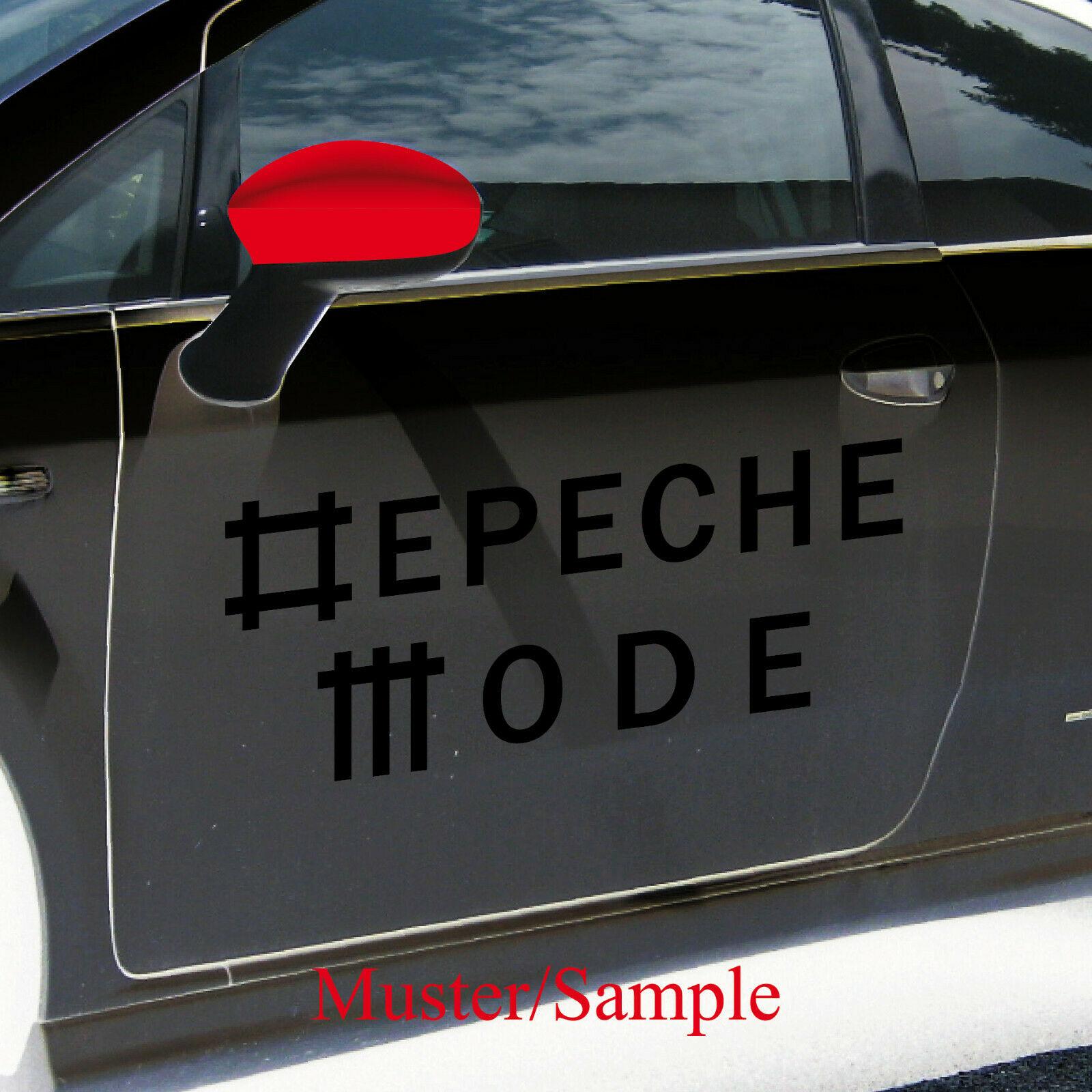 Universe schwarz L Schriftzug Auto Fenster Tür Depeche Mode Aufkleber Tattoo