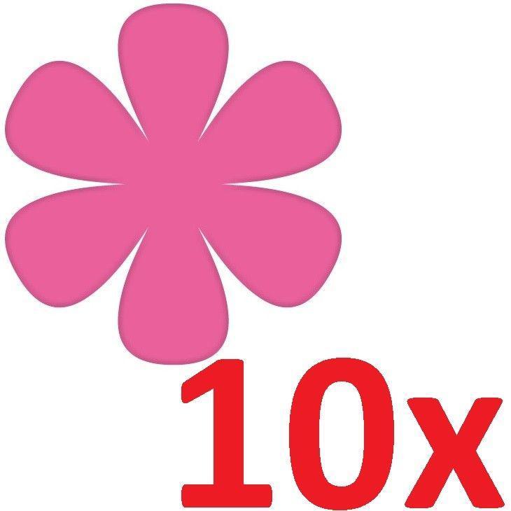 10 aufkleber tattoo 8cm pink blumen bl mchen deko folie kinder zimmer schrank kaufen bei green it. Black Bedroom Furniture Sets. Home Design Ideas