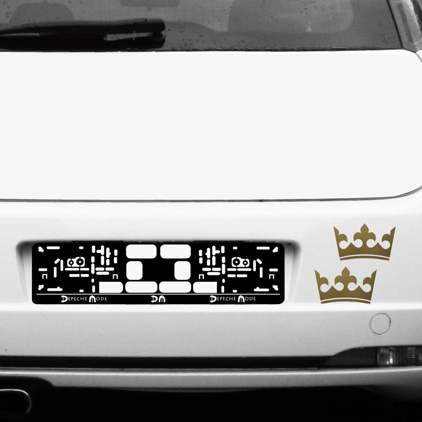 2 kronen 12cm gold k nig krone aufkleber tattoo auto. Black Bedroom Furniture Sets. Home Design Ideas