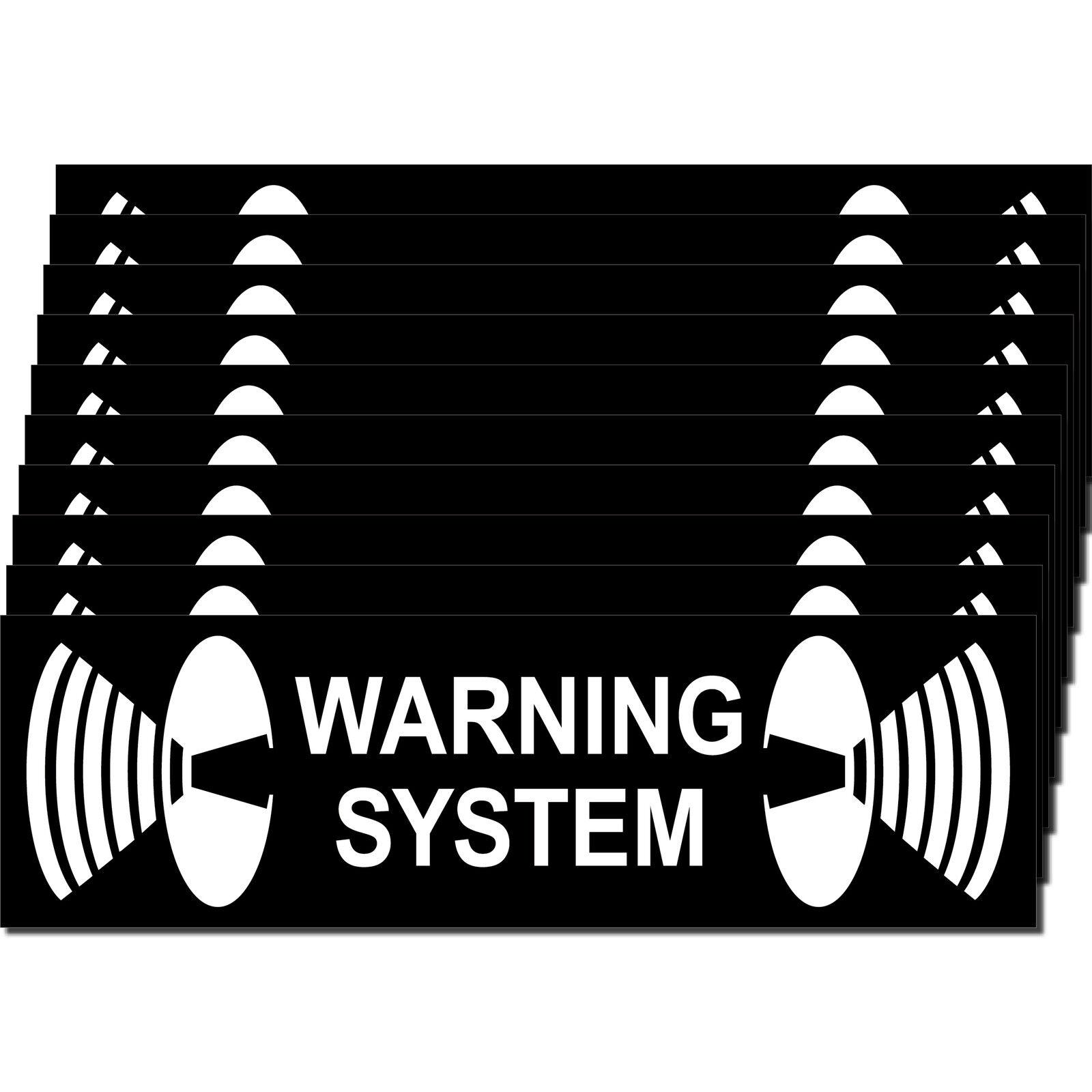 10 Aufkleber Warning System 6, 5cm Sticker Balkontür Fenster Tür ...