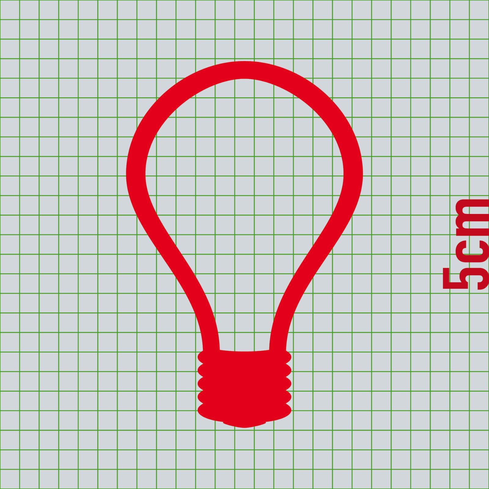 2 Sets Aufkleber Rot 5cm Tattoo Tür Taster Schalter Lampe Licht Klingel Symbol