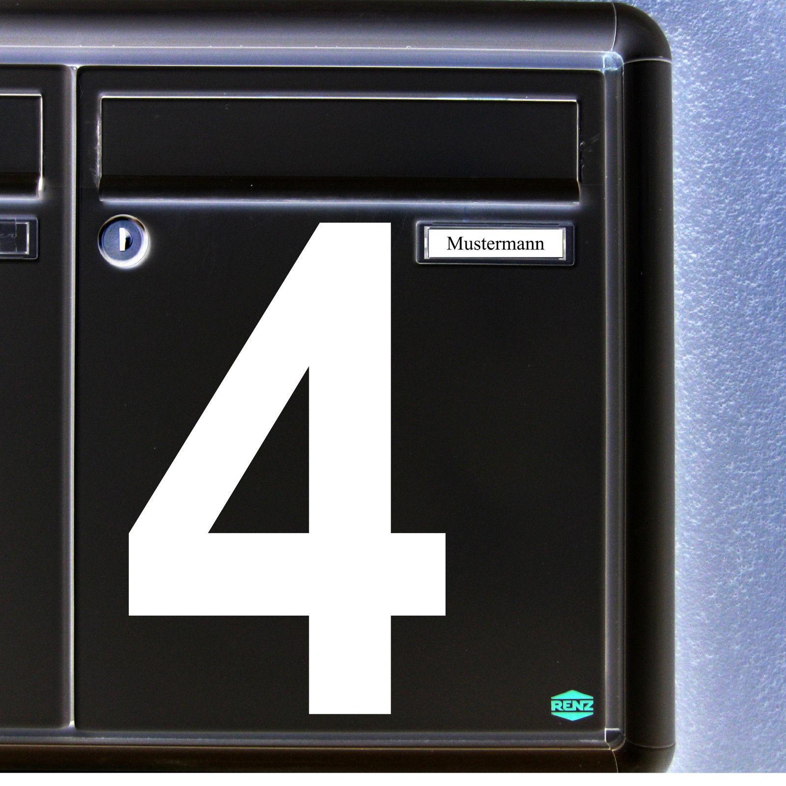 1 Stück 15cm Weiß Aufkleber Tattoo Hausnummer Wunschziffer Zahl Nummer Ziffer