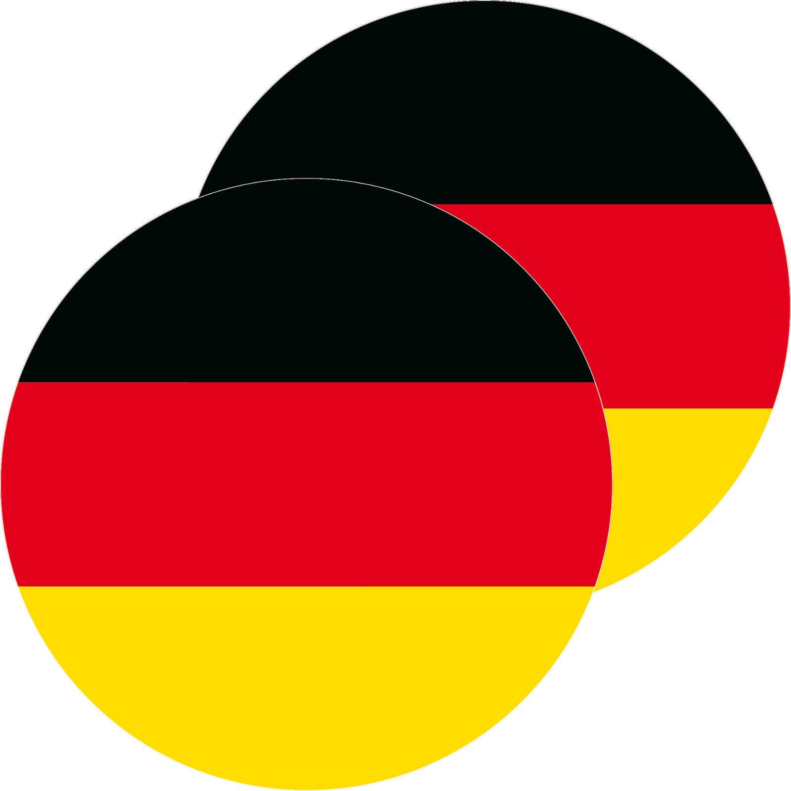 2 Aufkleber 10cm Rund Brd Sticker Deutschland Flagge Fahne Wm Em Fussball Deko