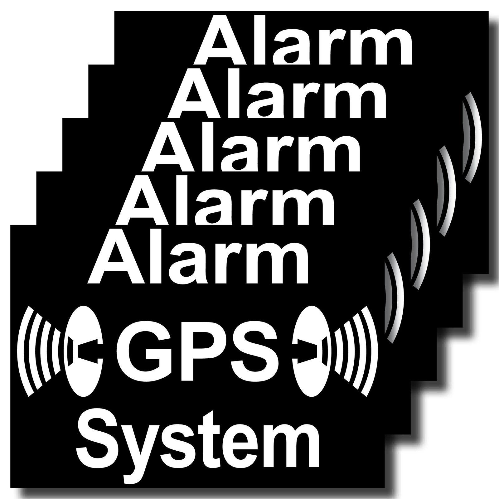 Aufkleber 7cm Gps Alarm System Fahrrad Rollladen Fenster Auto Tür Außenseite