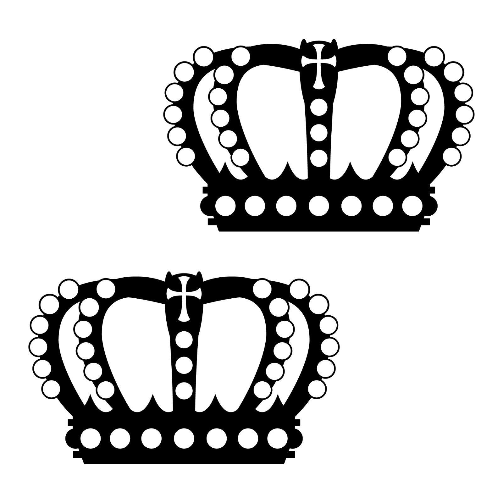 2 kronen 12cm schwarz k nig krone aufkleber tattoo wandtattoo die cut deko folie kaufen bei. Black Bedroom Furniture Sets. Home Design Ideas