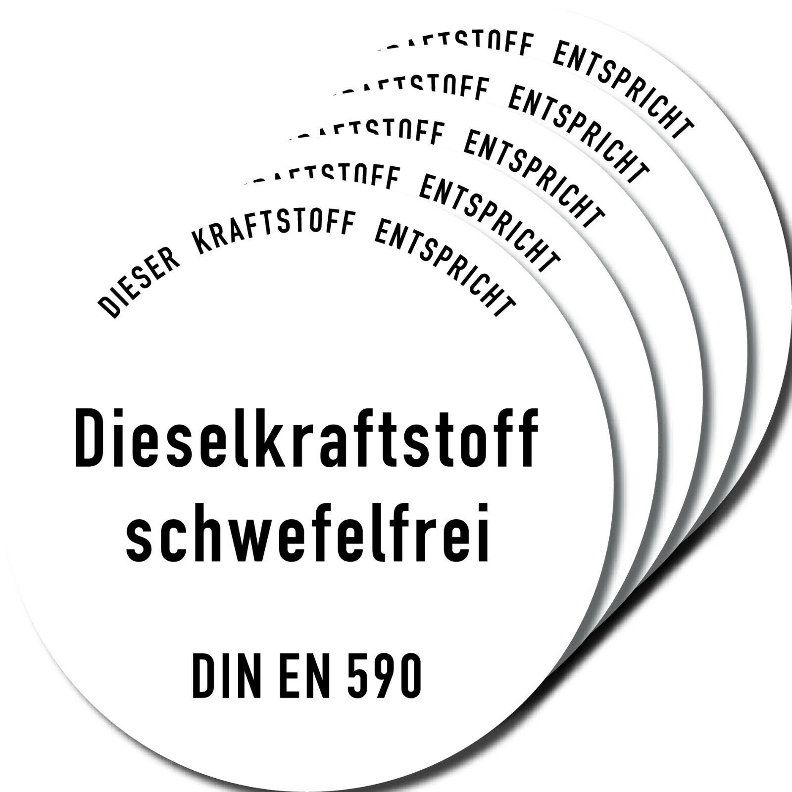 5 Aufkleber 10cm Sticker Diesel Kraftstoff Auto Pkw Tankdeckel