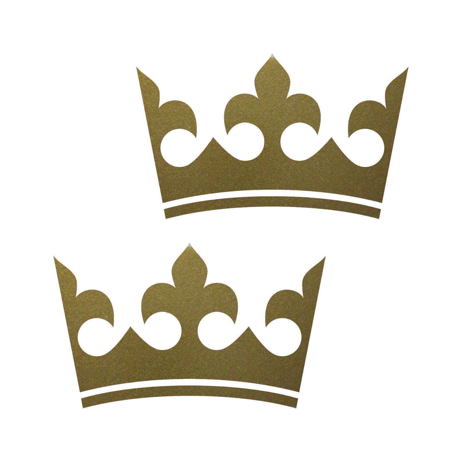 Fenster König 2 kronen 12cm gold könig krone aufkleber auto fenster möbel