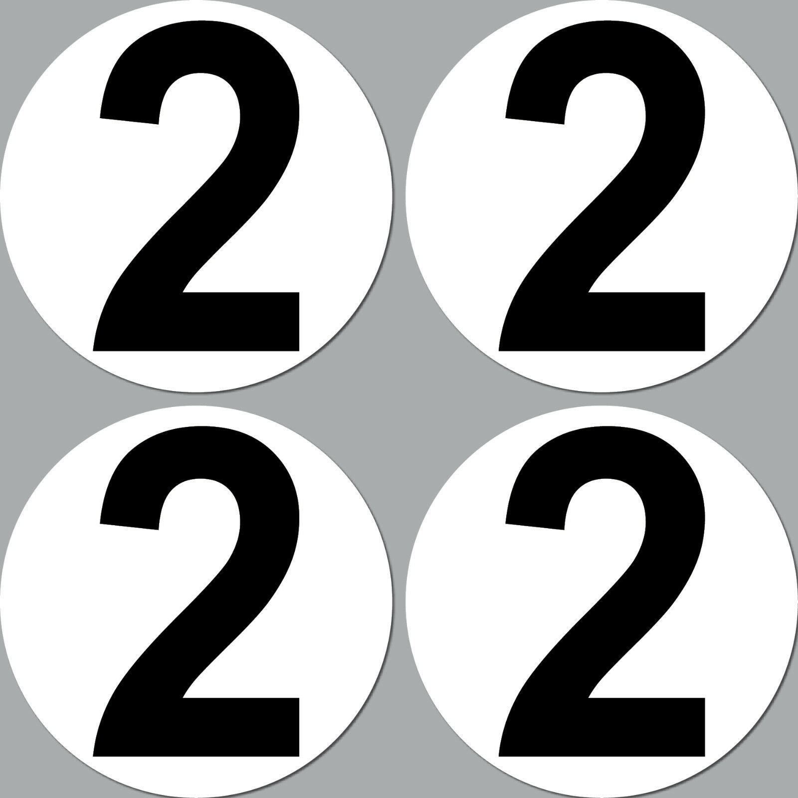 4 Aufkleber 15cm Start Nummer 2 Ziffer Zahl Auto Rennsport Racing Kart Gokart