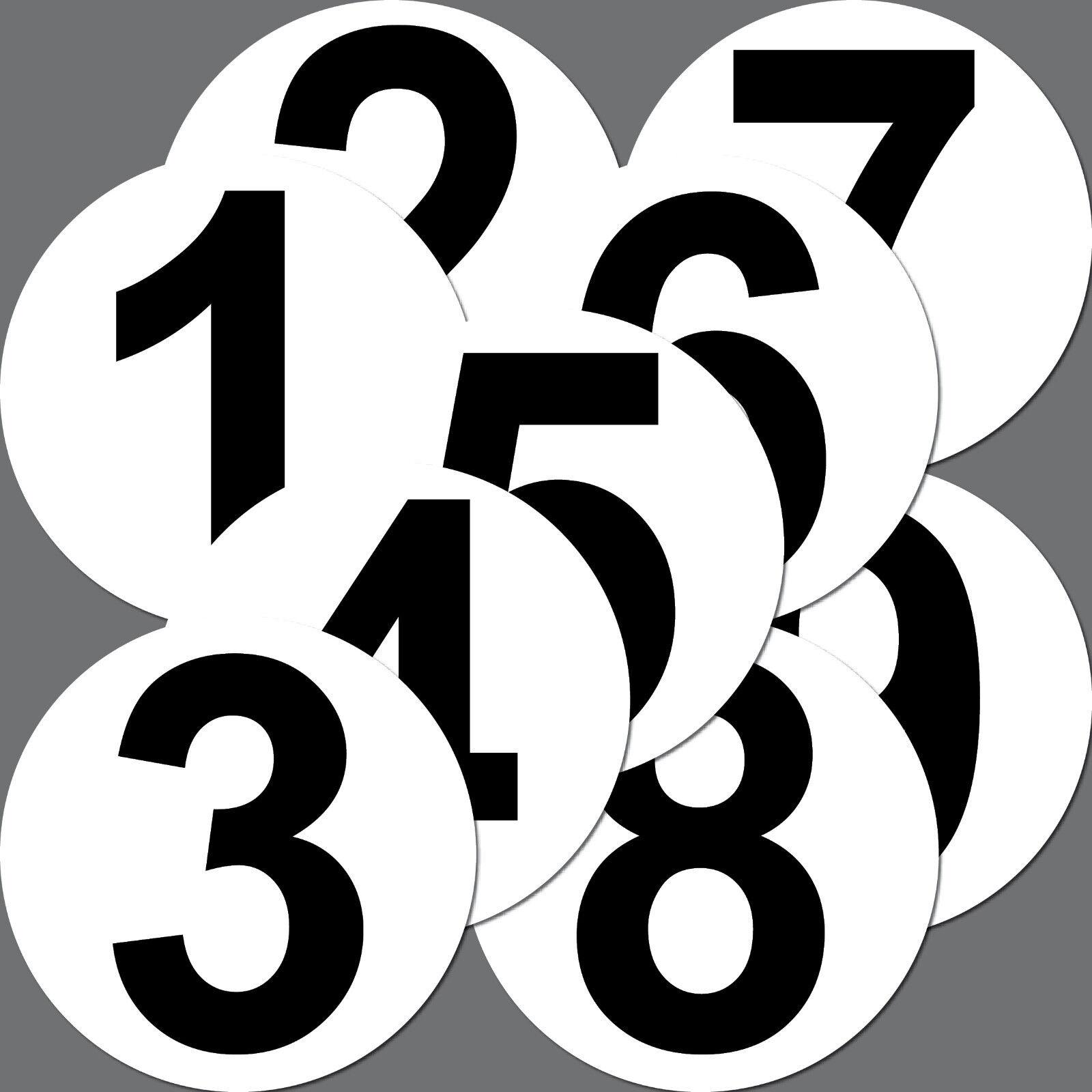4 Aufkleber 15cm Sticker Startnummer Racing Nummer Nr Auto Motorrad Kart Sport Yategocom