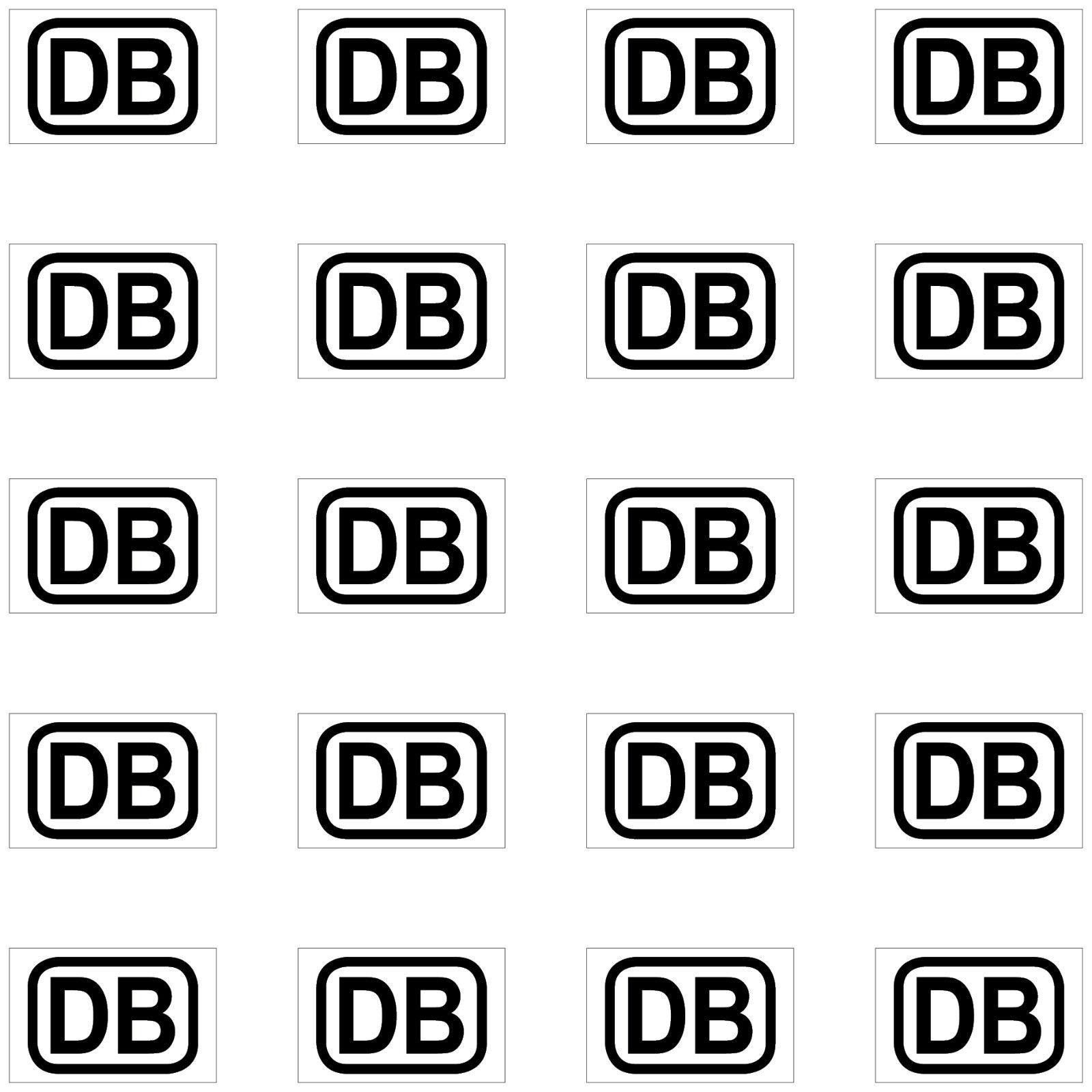 20 Aufkleber 1cm Schwarz Db Deutsche Bahn Zeichen Modellbau