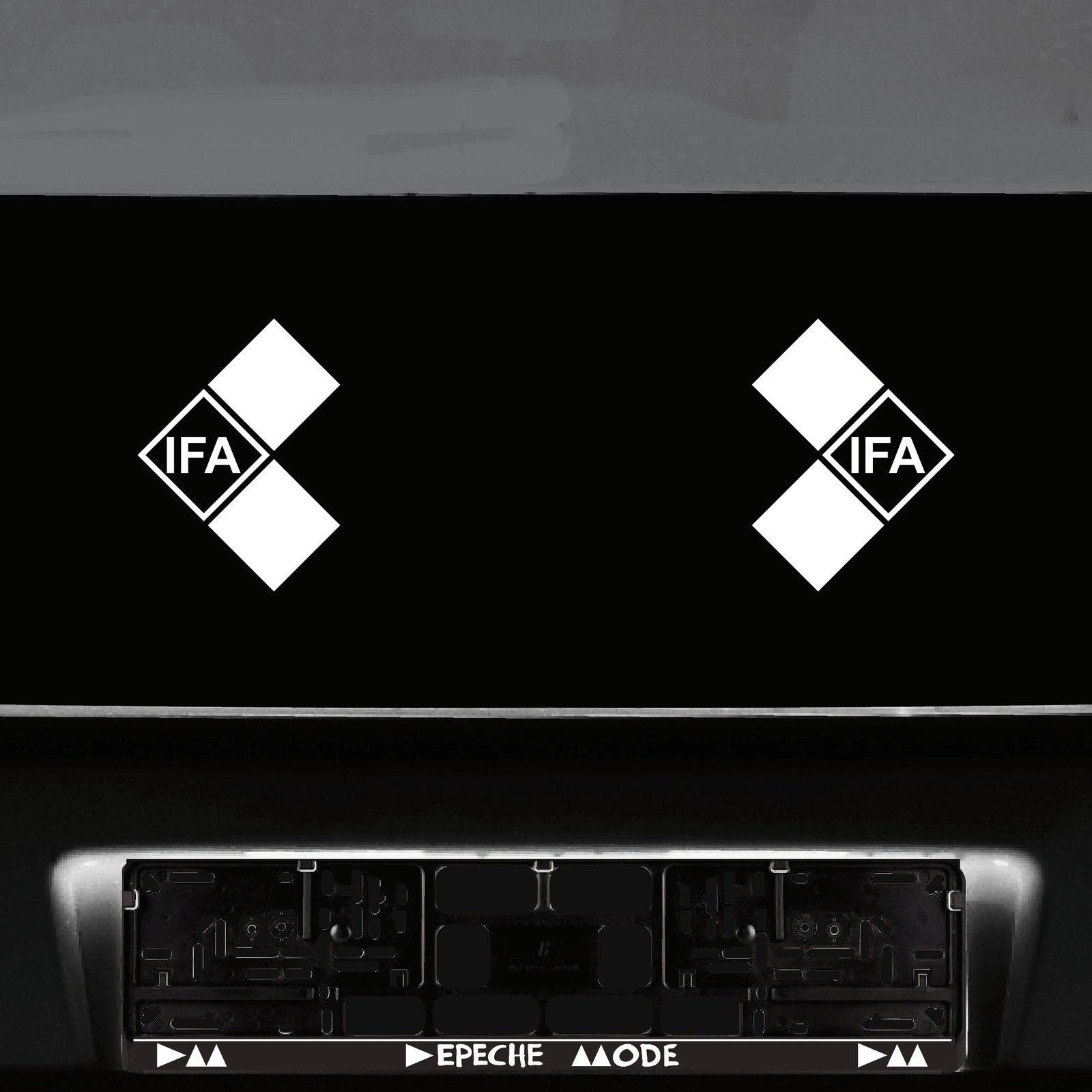 2 ifa symbole 15cm wei aufkleber tattoo auto folie ddr trabant simson wartburg kaufen bei. Black Bedroom Furniture Sets. Home Design Ideas