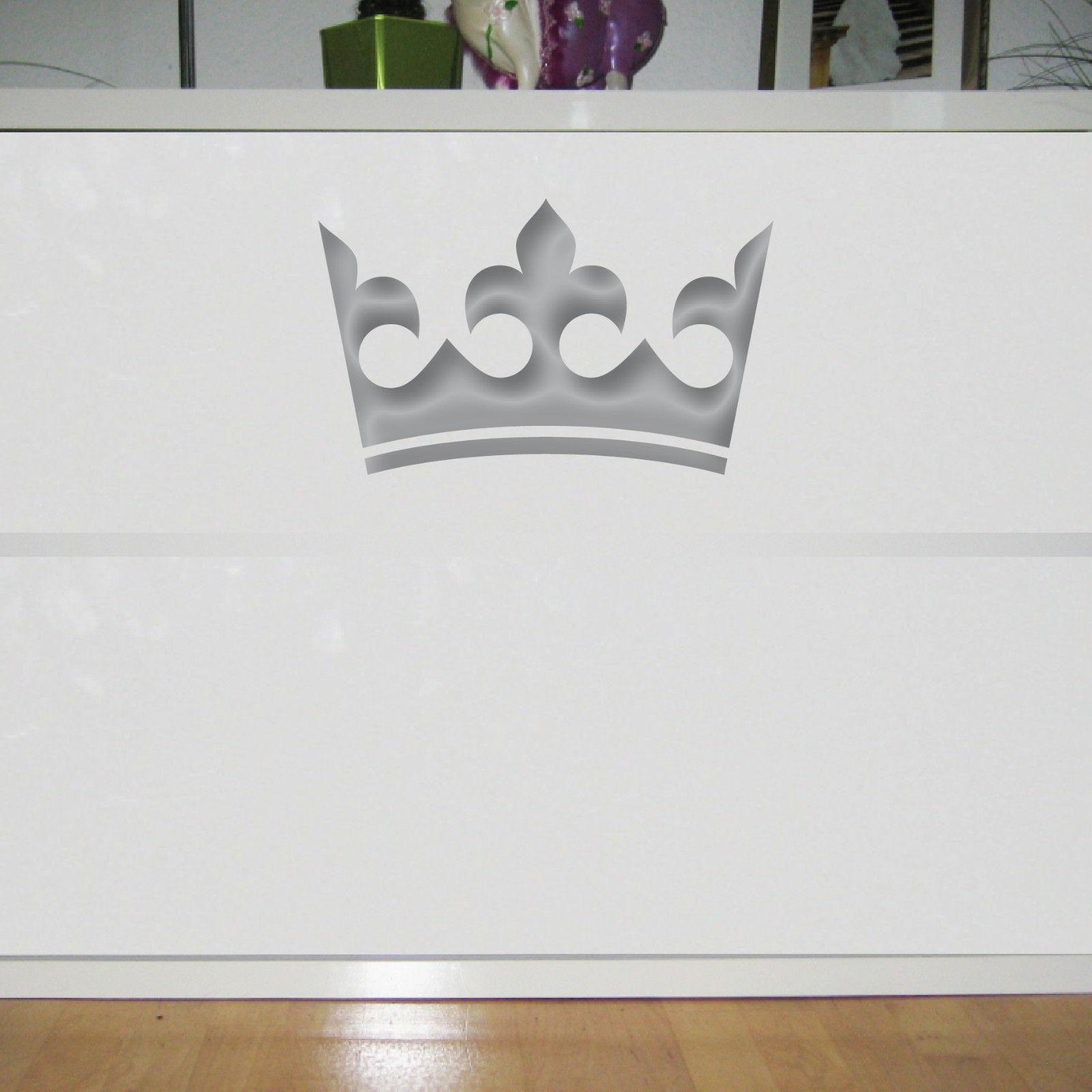 König Fenster krone 30cm silber könig aufkleber auto fenster tür