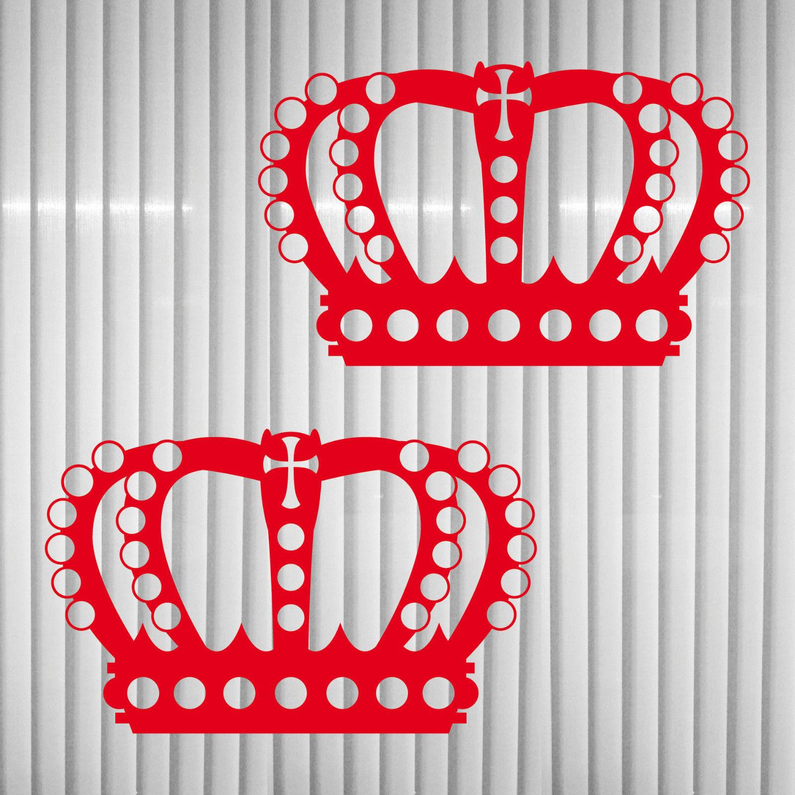 Gewaltig Wandtattoo Rot Foto Von 2 Kronen 12cm König Krone Aufkleber Tattoo