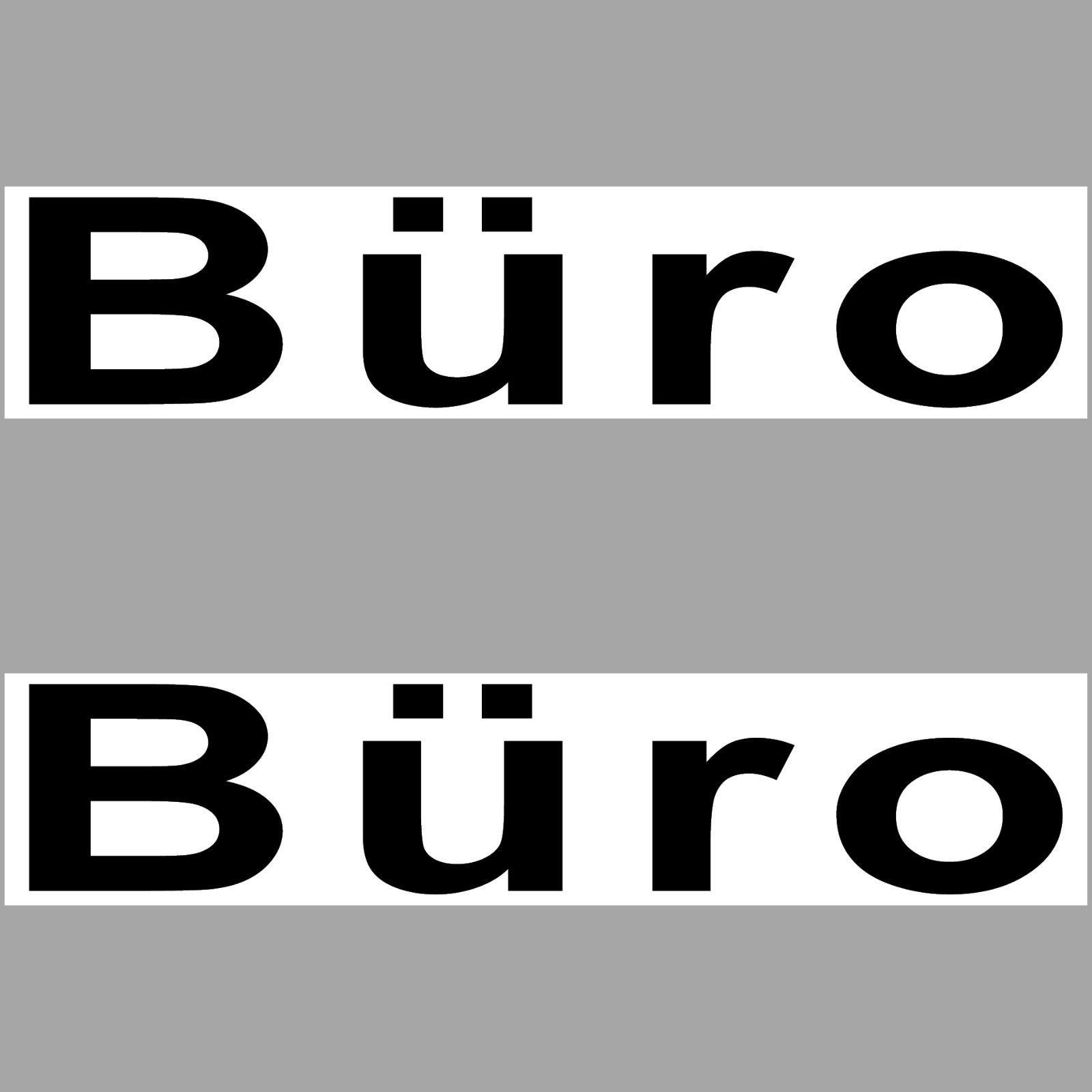 2 Aufkleber 20cm Büro Sticker Hinweis Tür Briefkasten Schrank ...