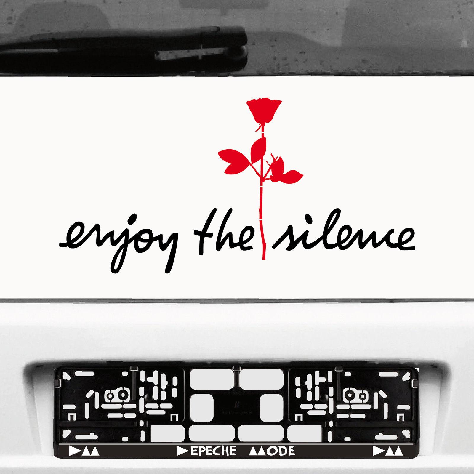 enjoy the silence rose aufkleber auto die cut tattoo deko folie depeche mode kaufen bei green it. Black Bedroom Furniture Sets. Home Design Ideas