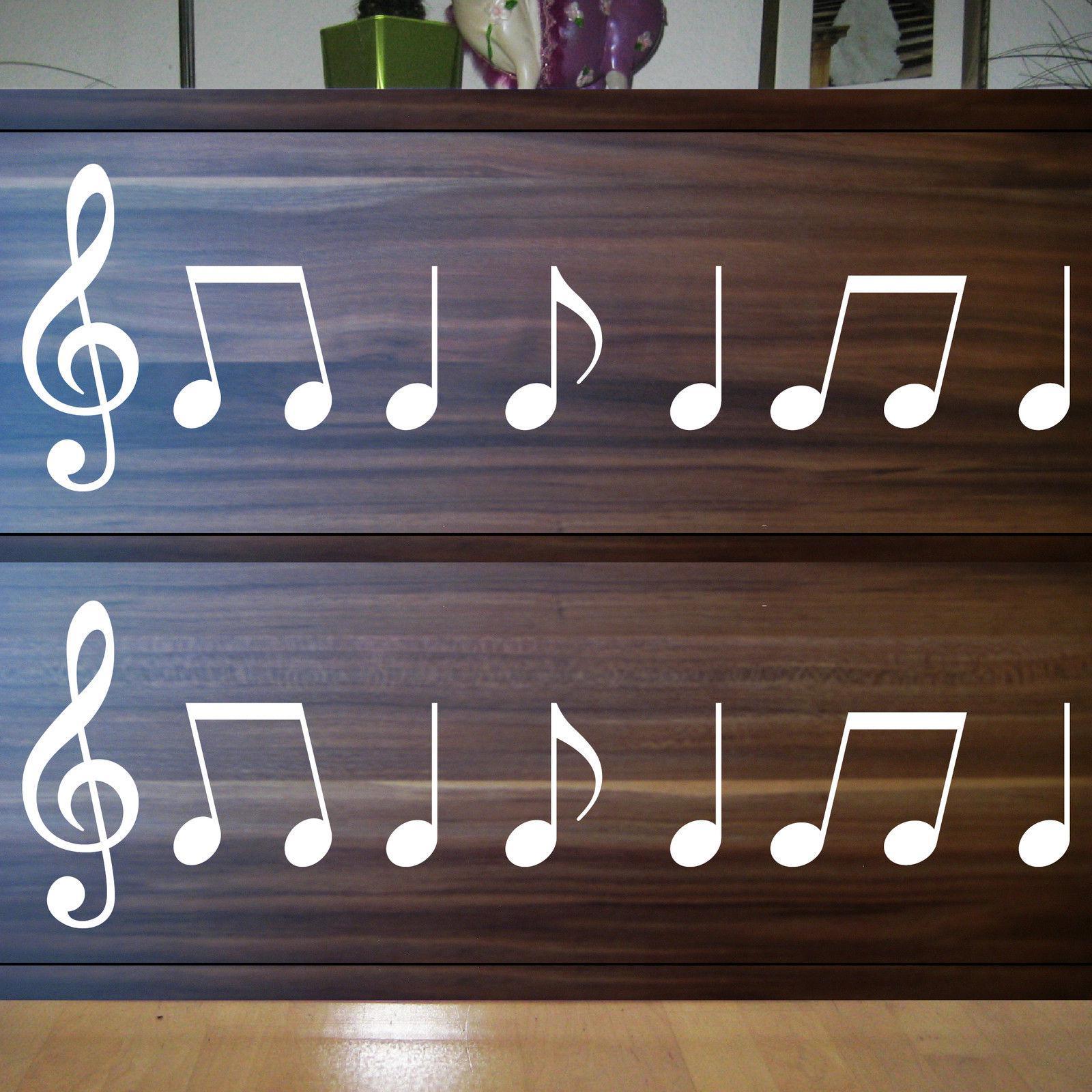 2 sets violinschl ssel 20cm noten wei auto fenster t r aufkleber tattoo folie kaufen bei. Black Bedroom Furniture Sets. Home Design Ideas