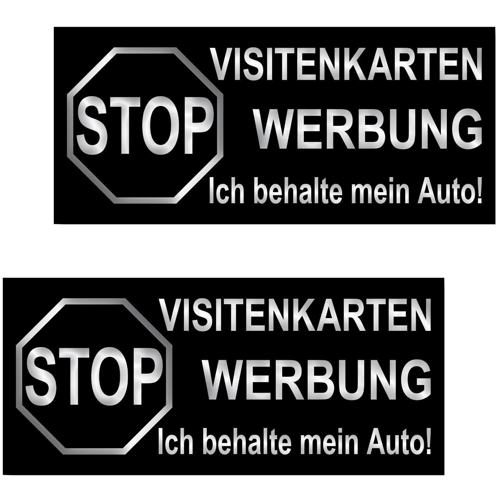 2 Aufkleber 6 5cm Sticker Stop Visitenkarten Werbung Ich Behalte Mein Auto