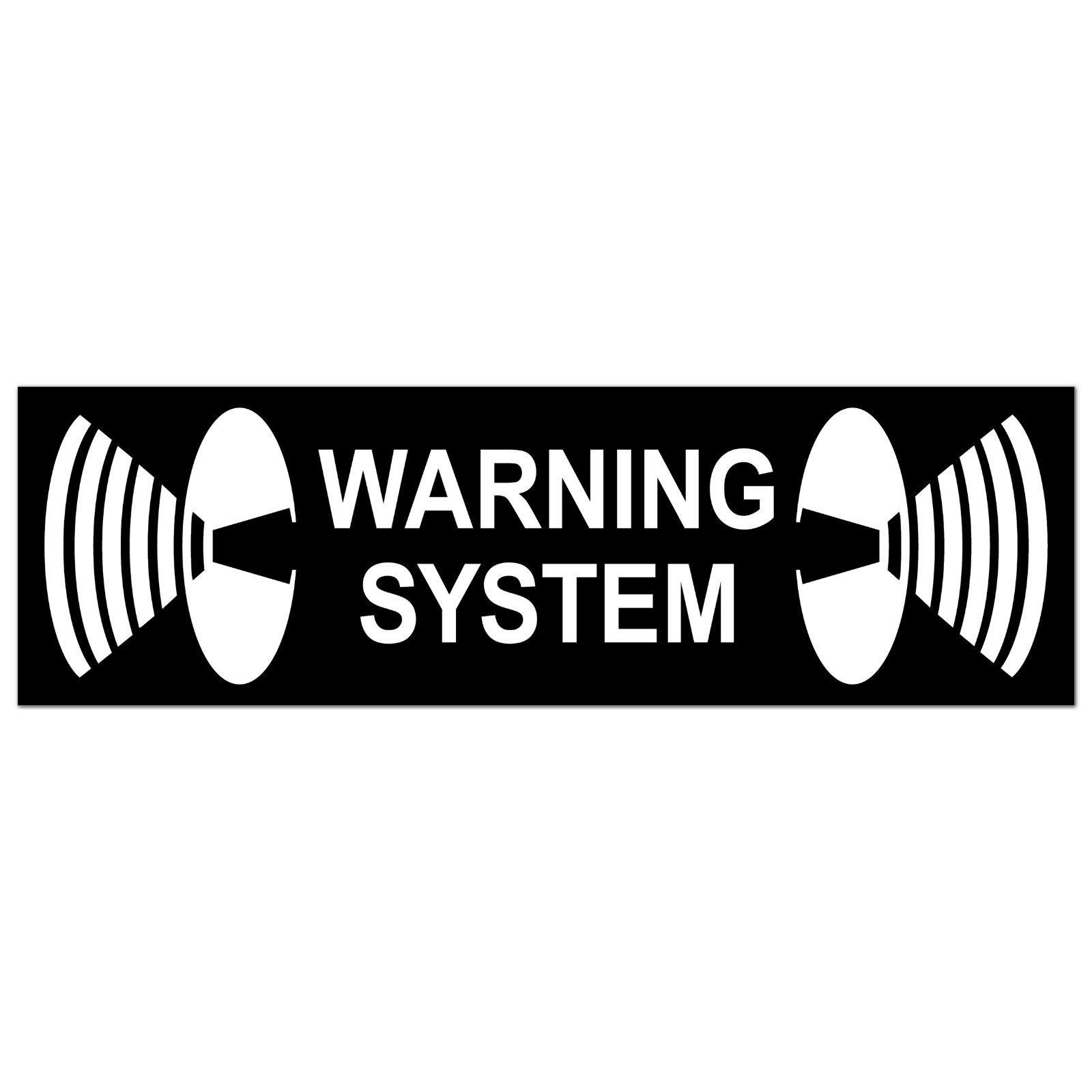Warning System Aufkleber 6, 5cm Sticker Außenseite Fenster Rahmen ...