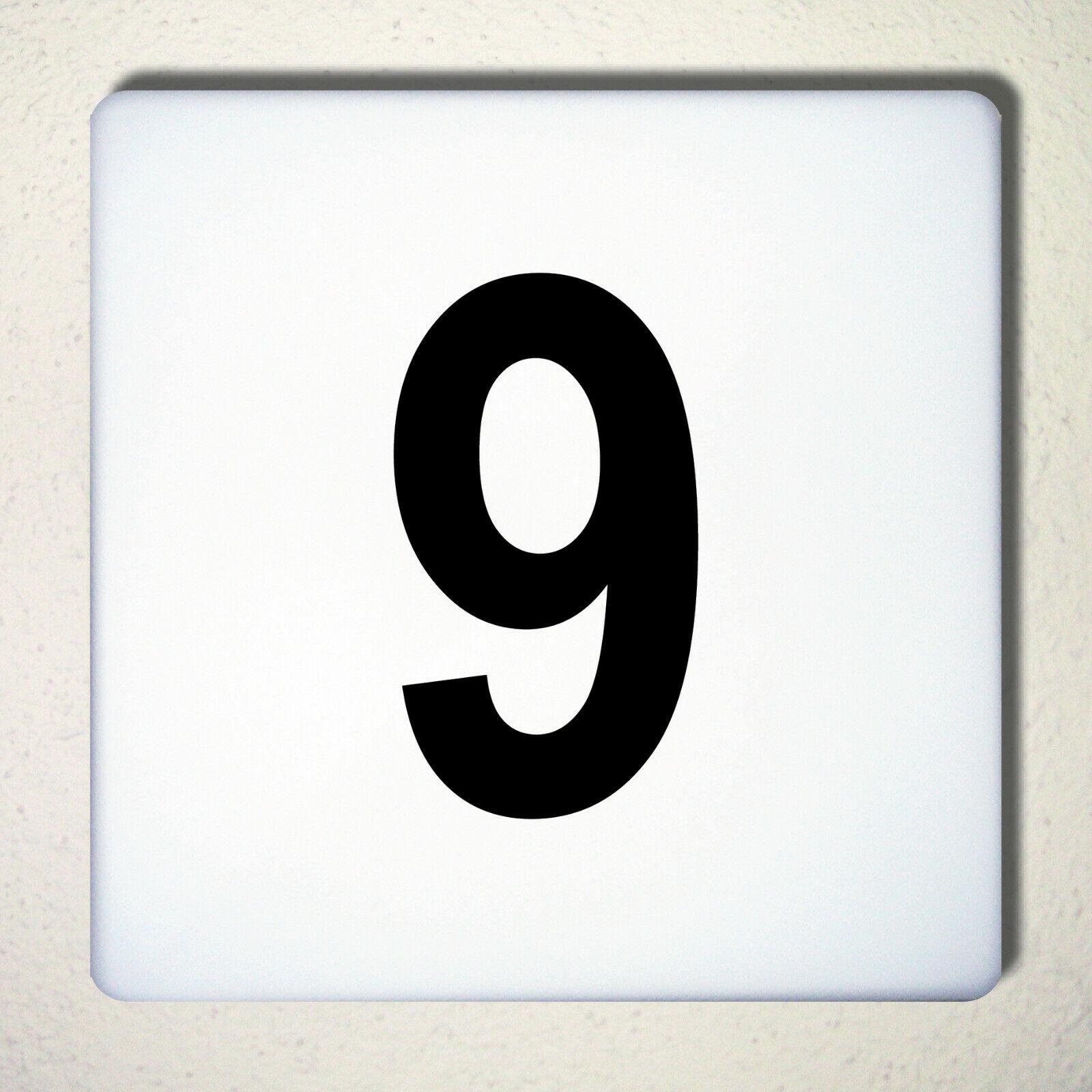 Ziffer Nr 9 Schwarz 12cm Zahl Hausnummer Haus Nummer Aufkleber Tattoo Deko Folie