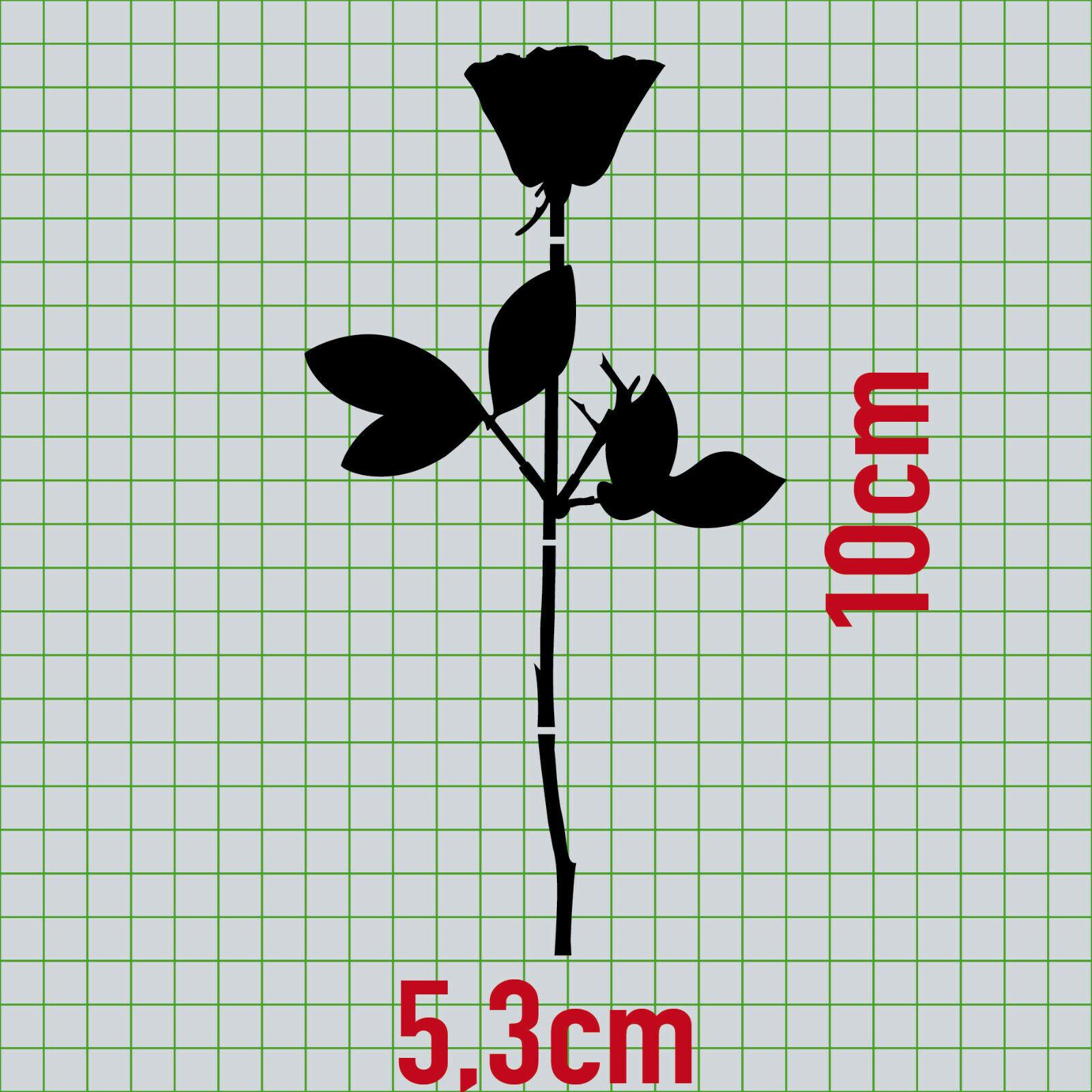 Rose 50cm schwarz Auto Tür Fenster Möbel Dekofolie Depeche Mode Aufkleber Tattoo