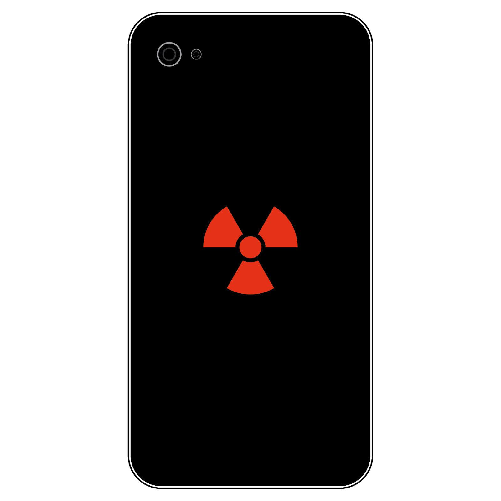 ... 8 Aufkleber Tattoo 2, 5cm Rot Radioaktiv Symbol Logo Handy Smartphone  Deko Folie 2 ...