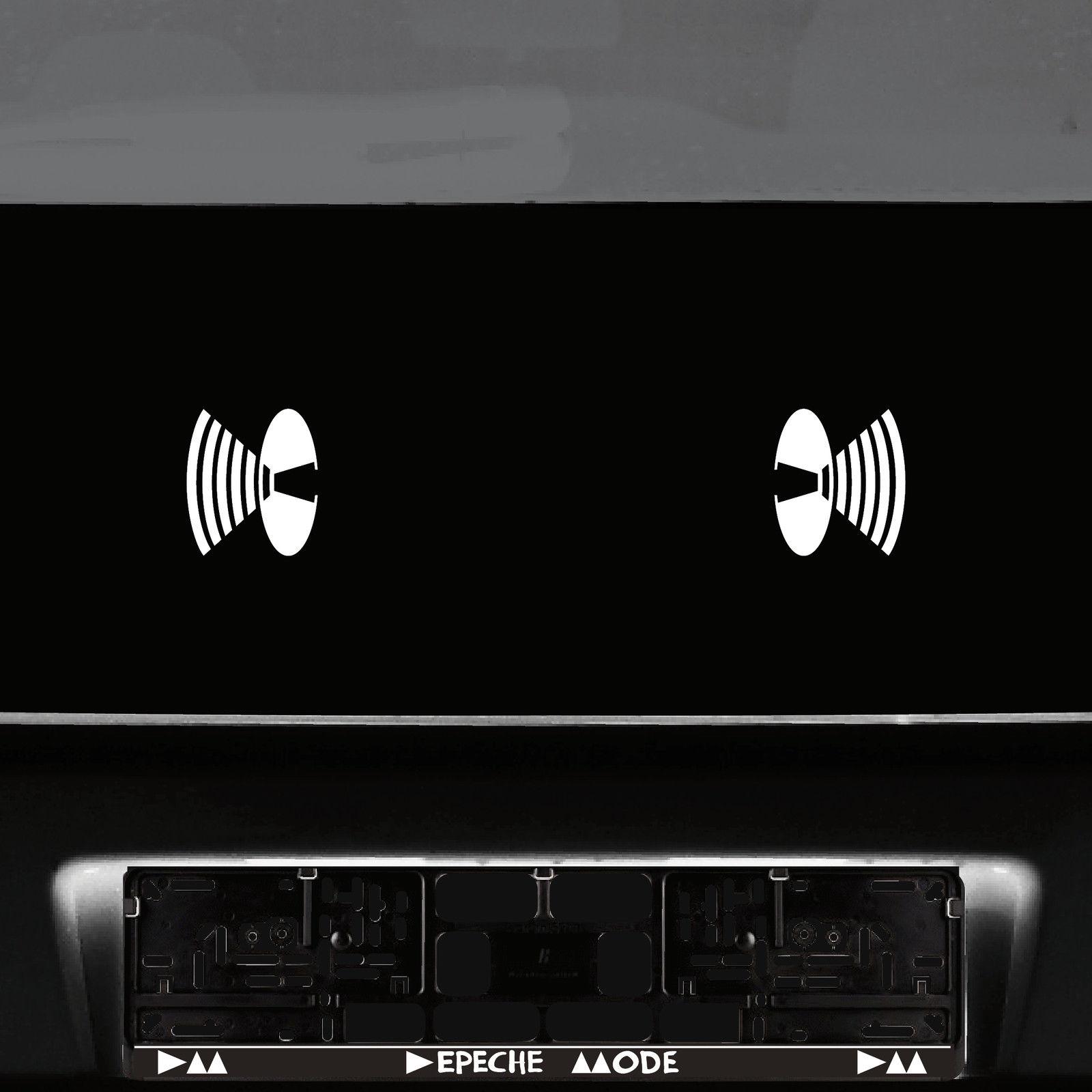 2 Aufkleber 8cm weiß Lautsprecher Symbol Auto Tür Tattoo Deko Folie ...