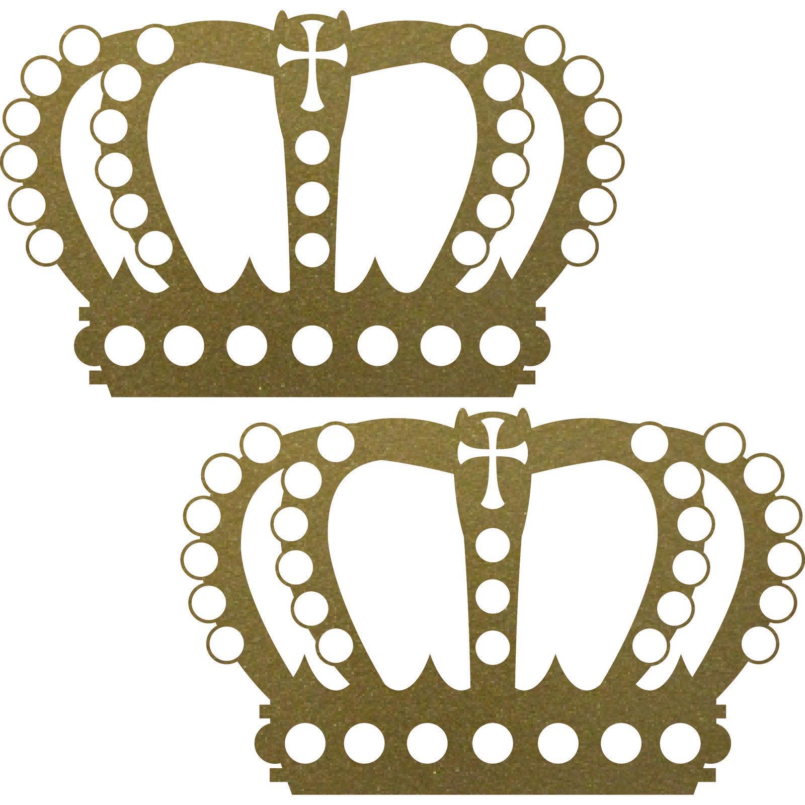 2 st ck 23cm gold k nig krone aufkleber tattoo wandtattoo die cut deko folie kaufen bei green it. Black Bedroom Furniture Sets. Home Design Ideas