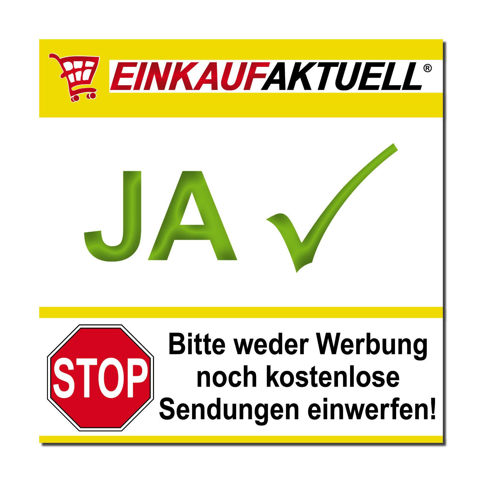 Dekoration 10 Aufkleber Stop Bitte Keine Werbung Reklame