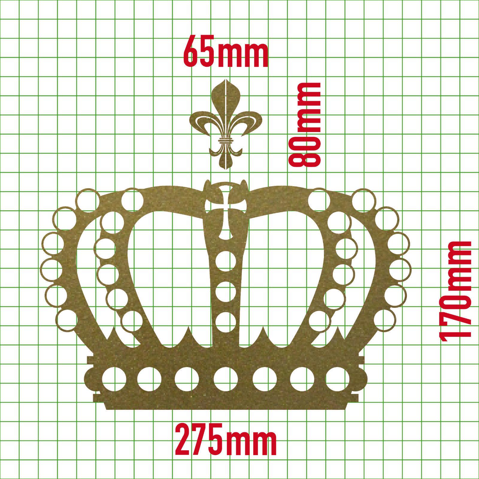 Fenster König krone 28cm lilie gold könig aufkleber auto fenster tür