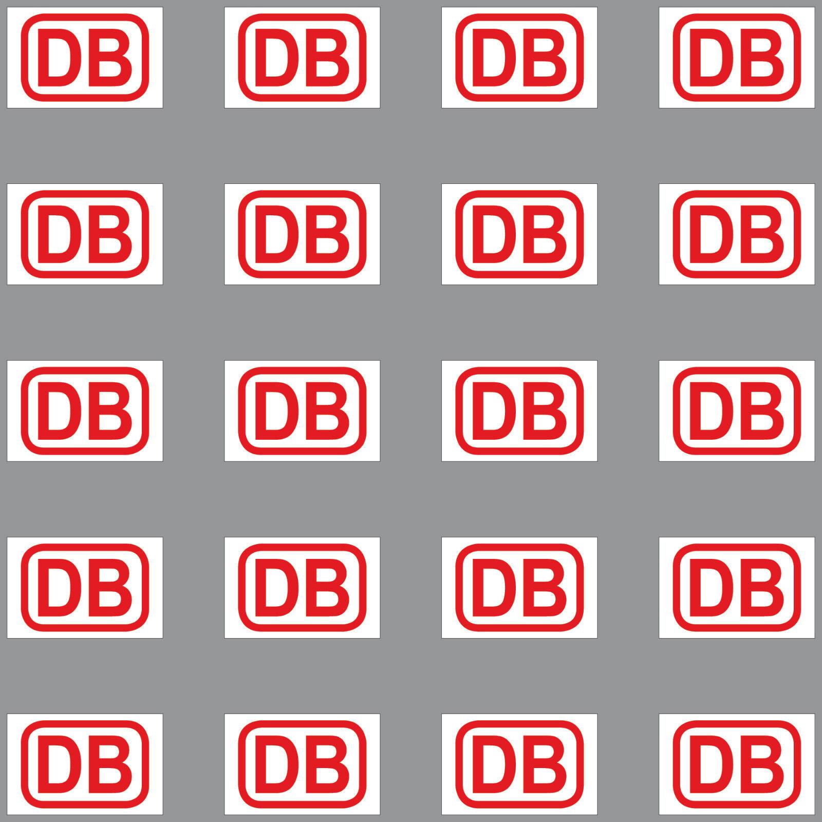 20 Aufkleber 2cm Schwarz Db Deutsche Bahn Zeichen Modellbau