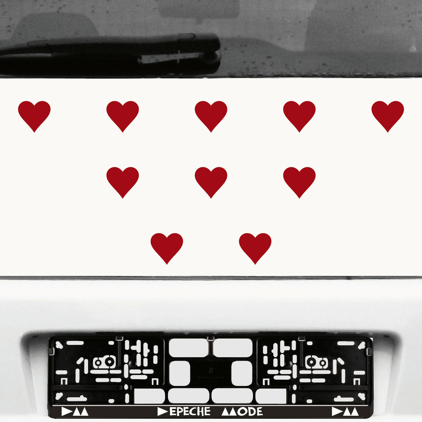 10 Stück 5cm Dunkelrot Herz Herzen Aufkleber Die Cut Tattoo Auto Deko Folie