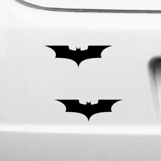 2 Aufkleber 10cm Batman Logo Neu Tattoo Auto Motorrad Die Cut Deko Folie Symbol