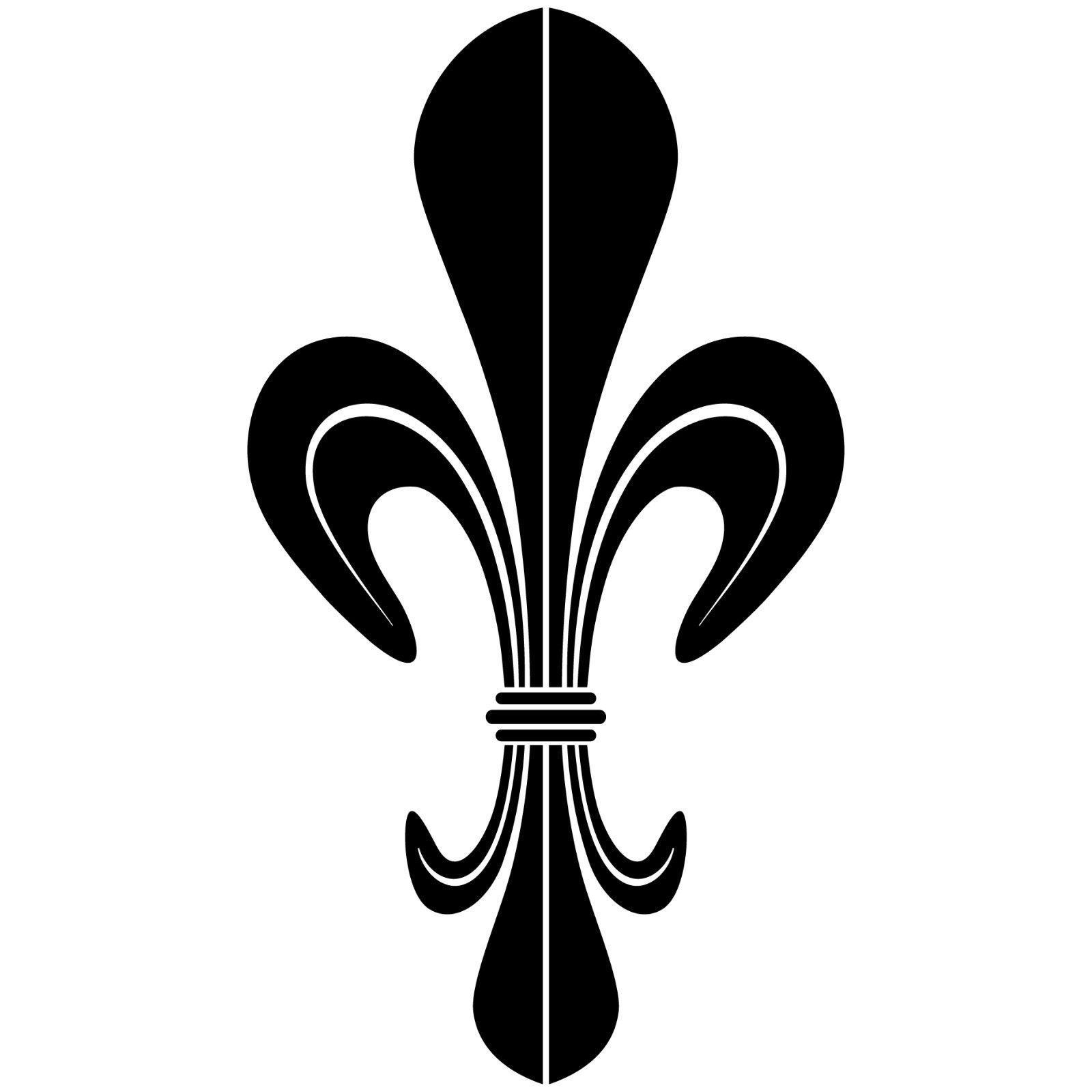 10 aufkleber tattoo 10cm schwarz dm lilie fleur de lis zeichen symbol deko folie kaufen bei. Black Bedroom Furniture Sets. Home Design Ideas