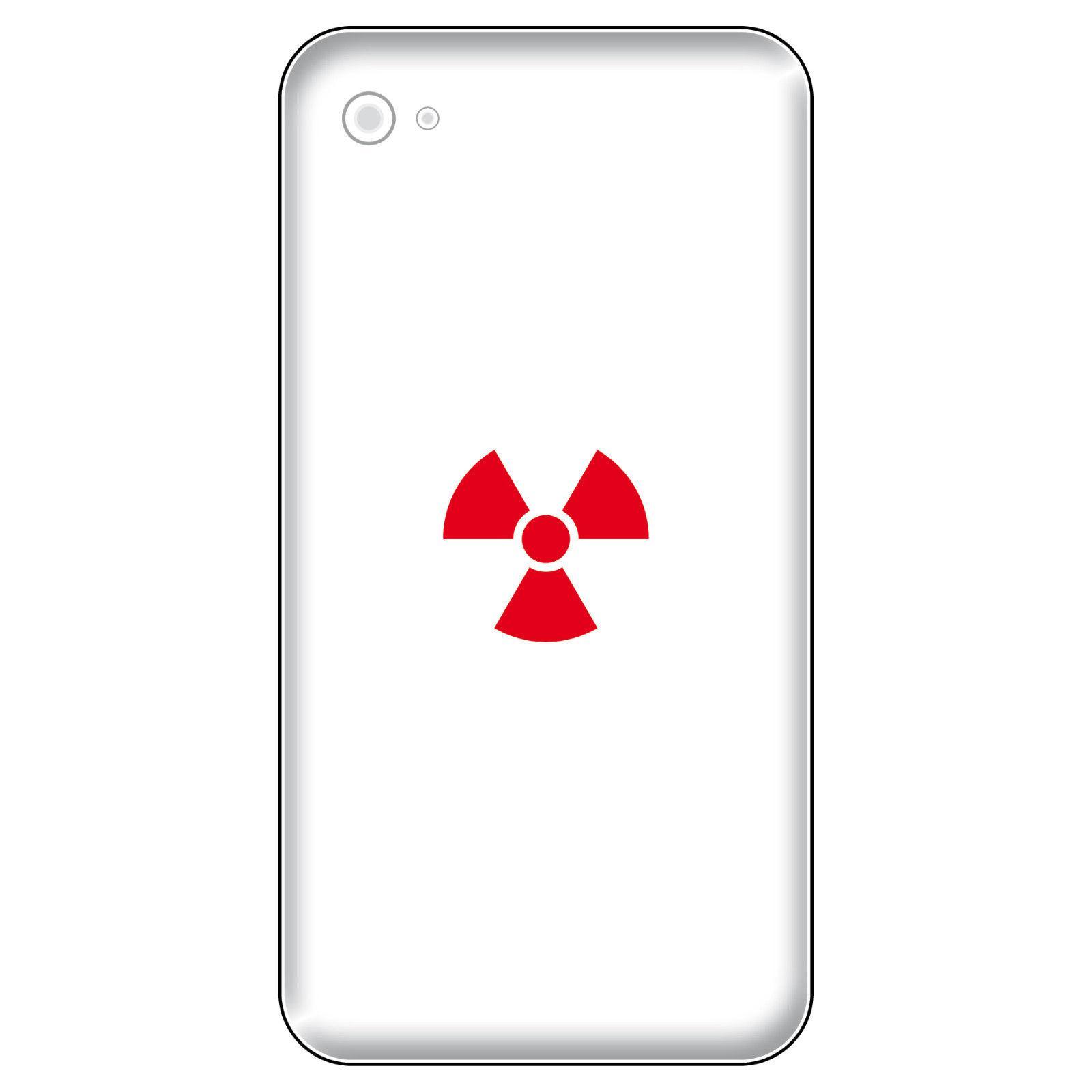 8 Aufkleber Tattoo 2, 5cm Rot Radioaktiv Symbol Logo Handy Smartphone Deko  Folie 1 ...