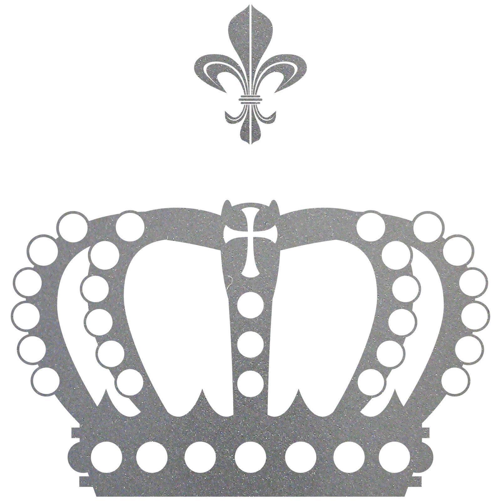 Fenster König krone 38cm lilie silber könig aufkleber auto fenster tür wand